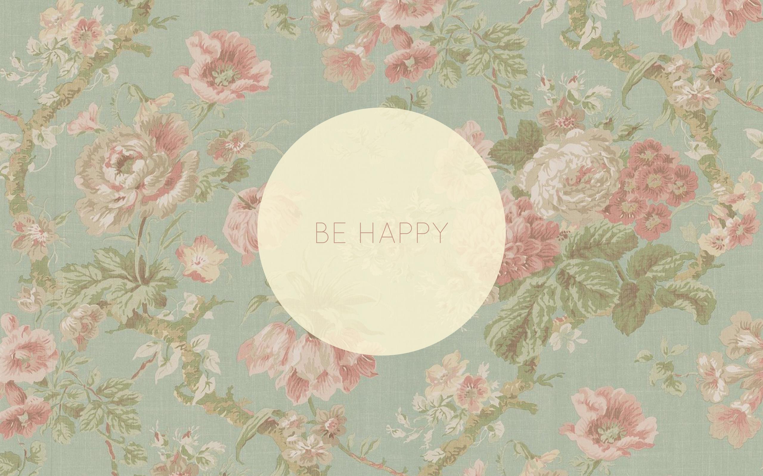 Vintage Floral Background Hd Wallpaper