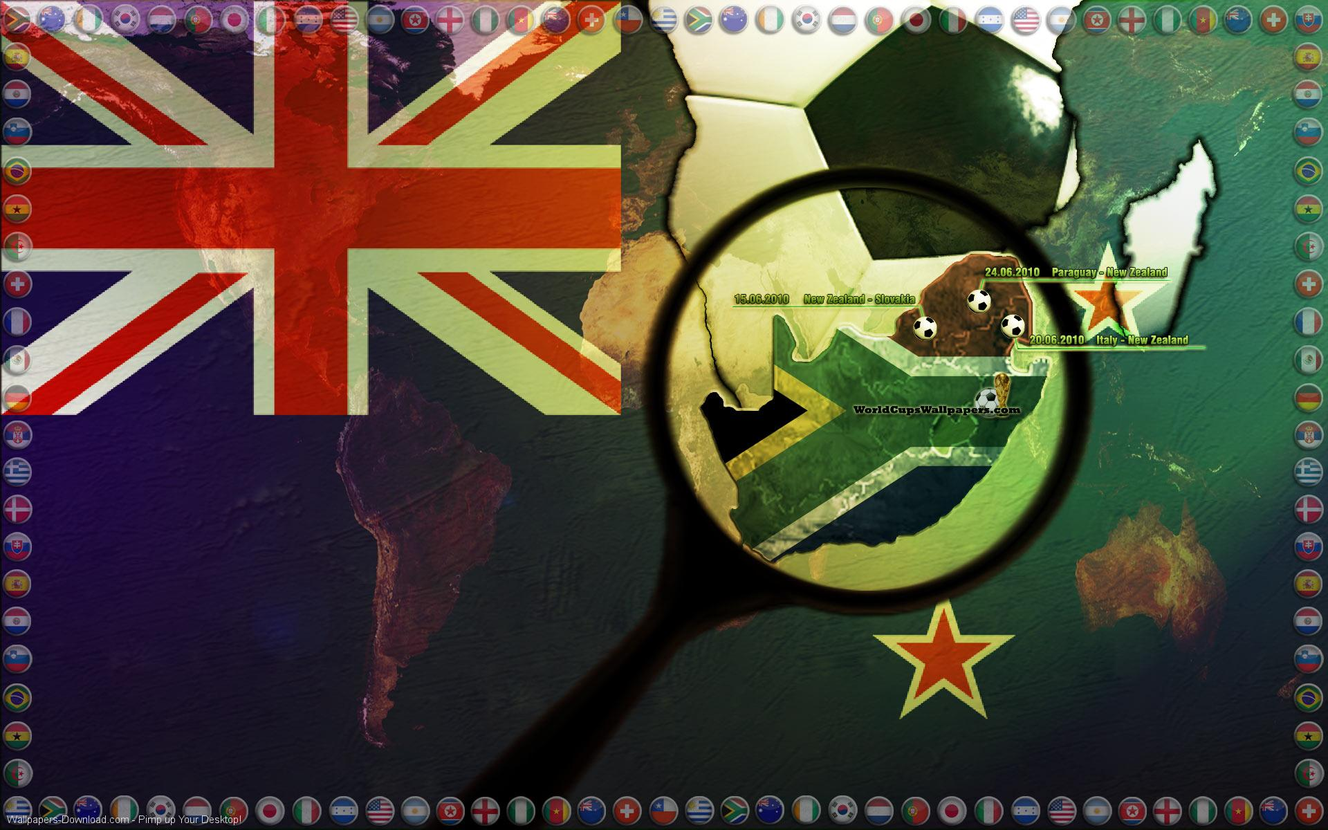 Flag New Zealand Hd Wallpaper