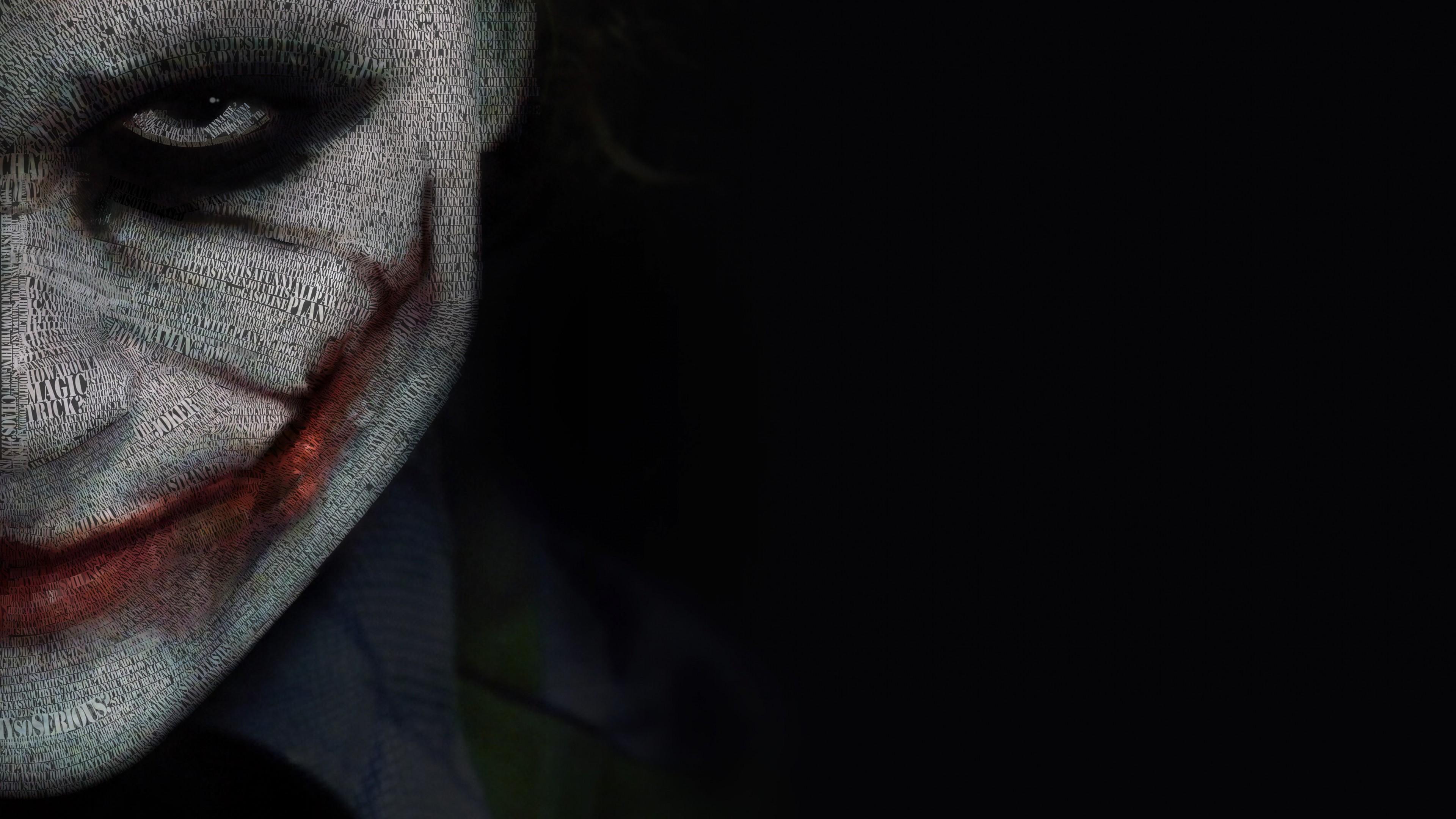 The Joker Typeface Portrait 4K wallpaper