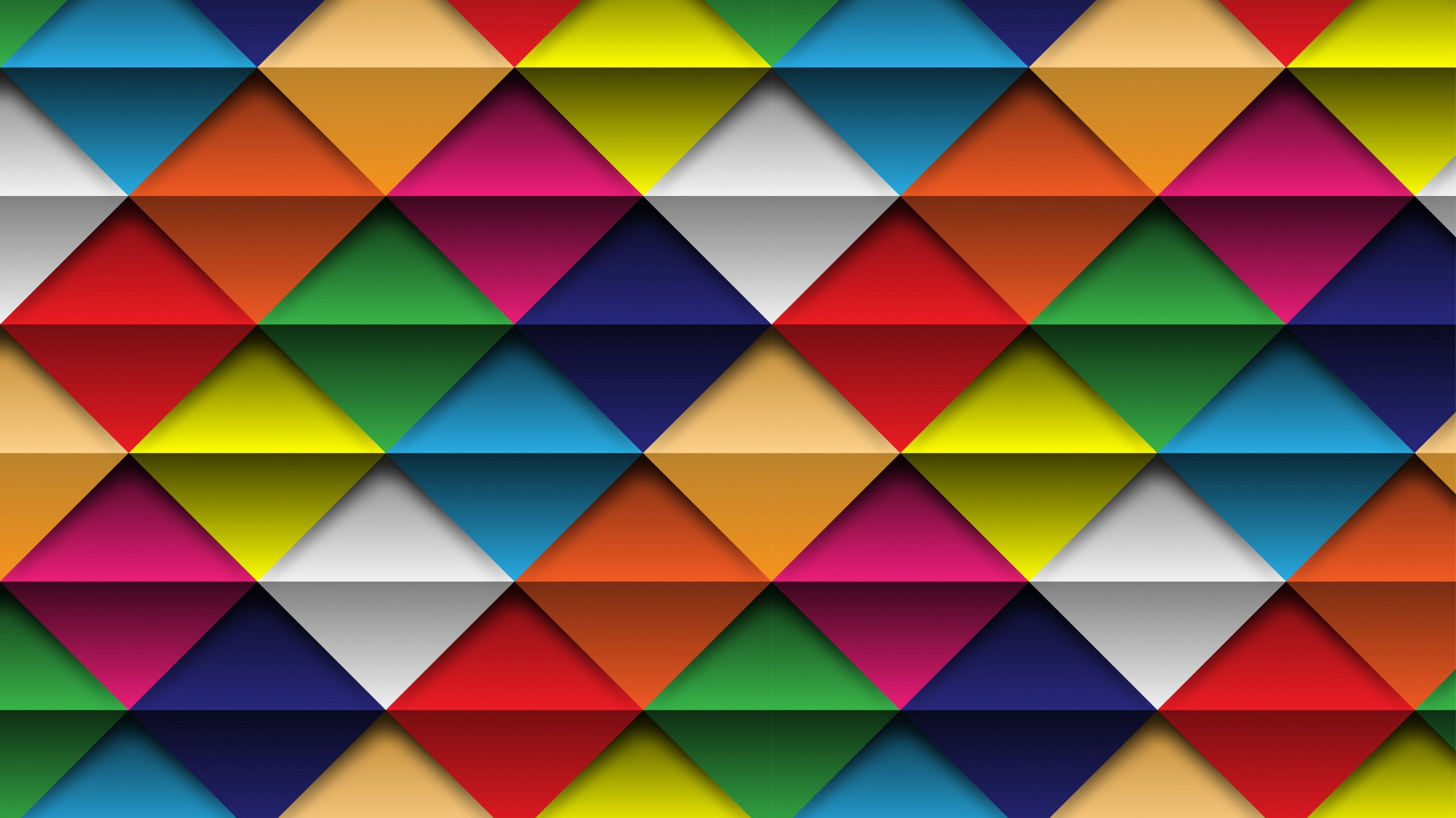 Geometry Colorful Triangles and Squares HD wallpaper