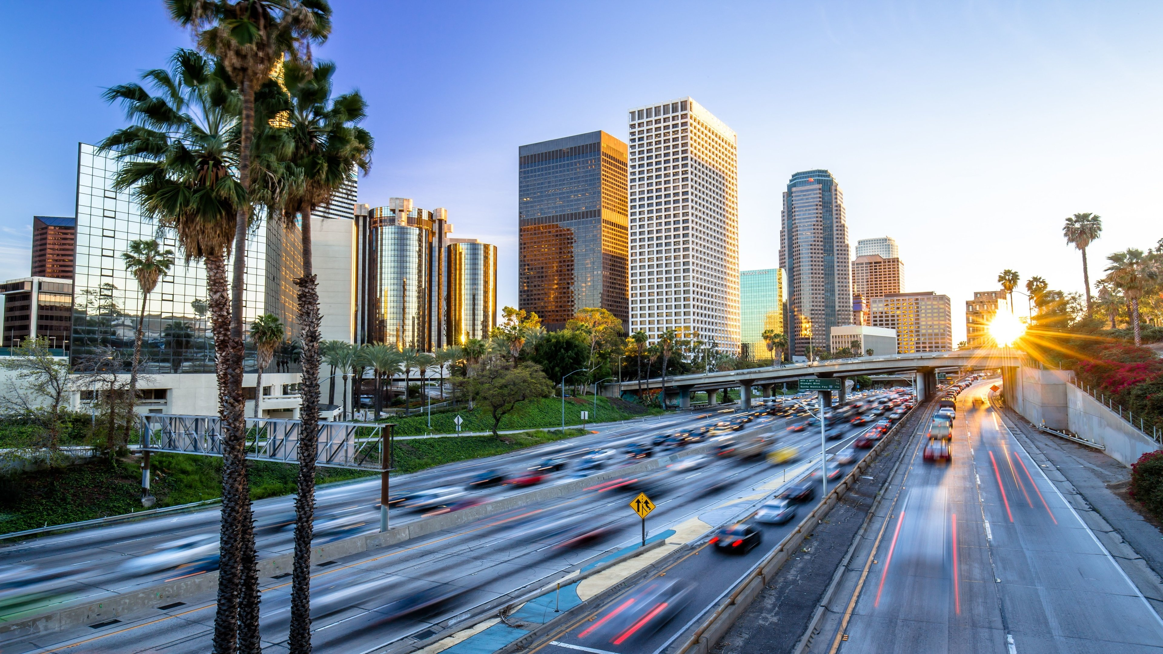 Downtown Los Angeles Wallpaper for iPhone X, 8, 7, 6 ... |Los Angeles City Phone Wallpaper