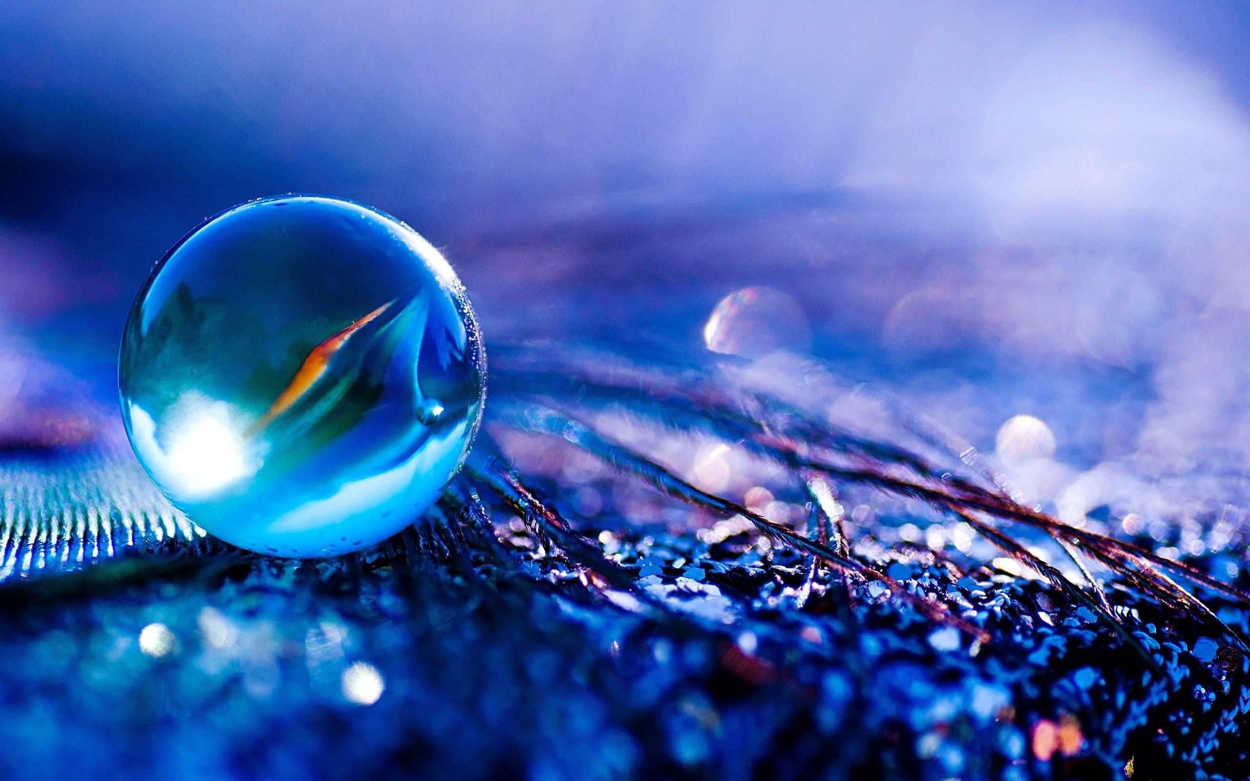 Blueish Water Bubble HD wallpaper