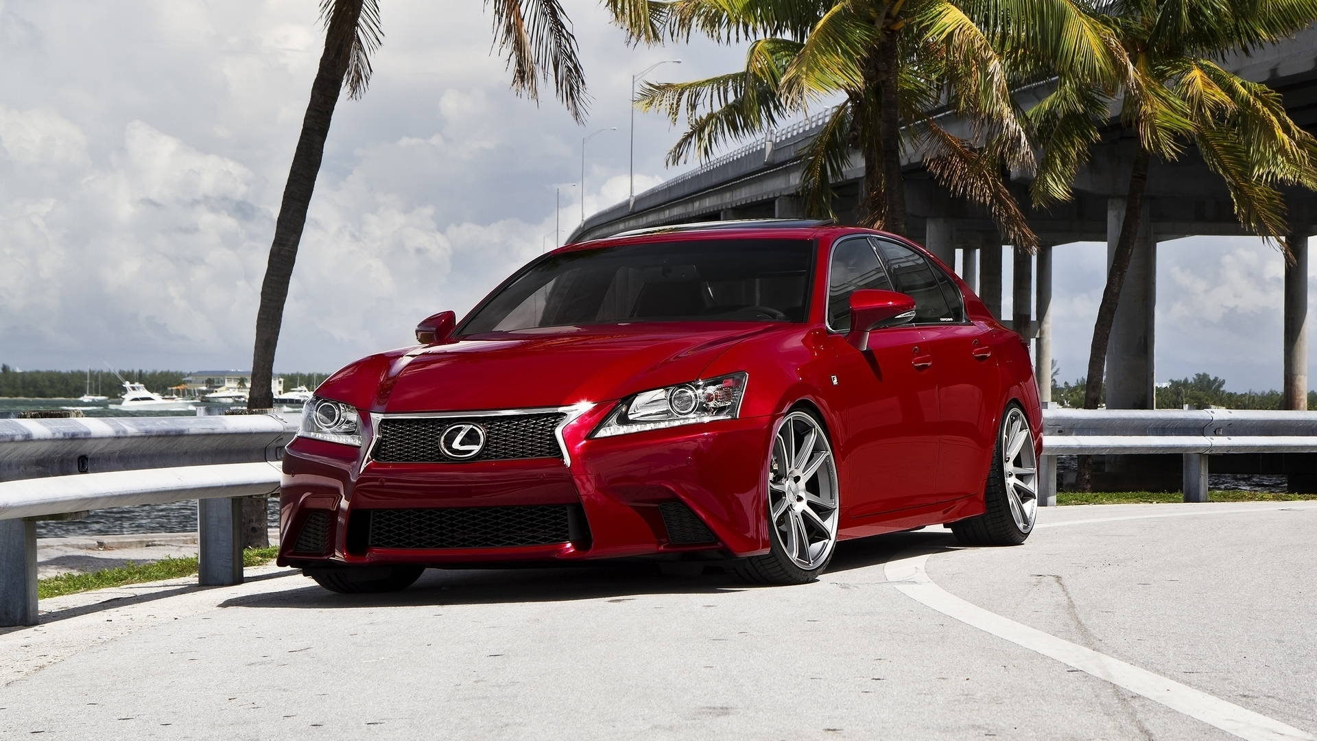 Red Modified Lexus Car Hd Wallpaper