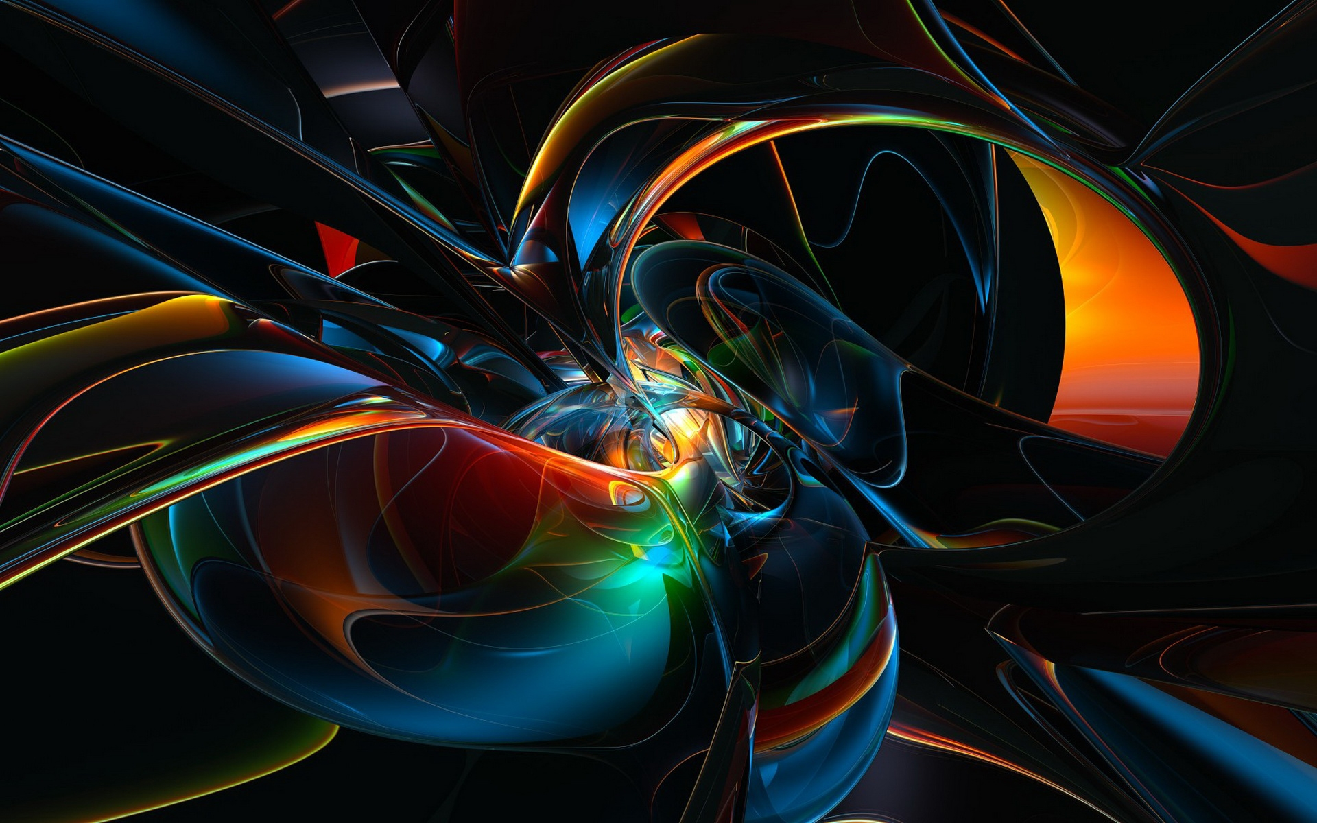 Abstract Black And Orange Background Hd Wallpaper