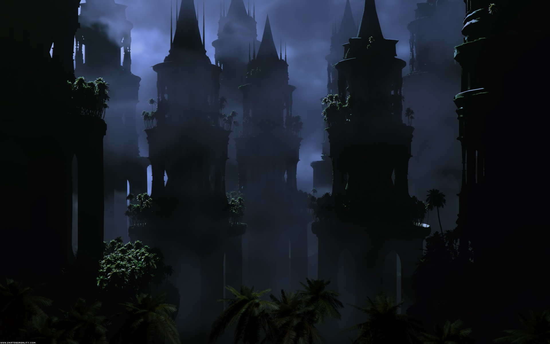 Fantasy Dark Town Hd Wallpaper