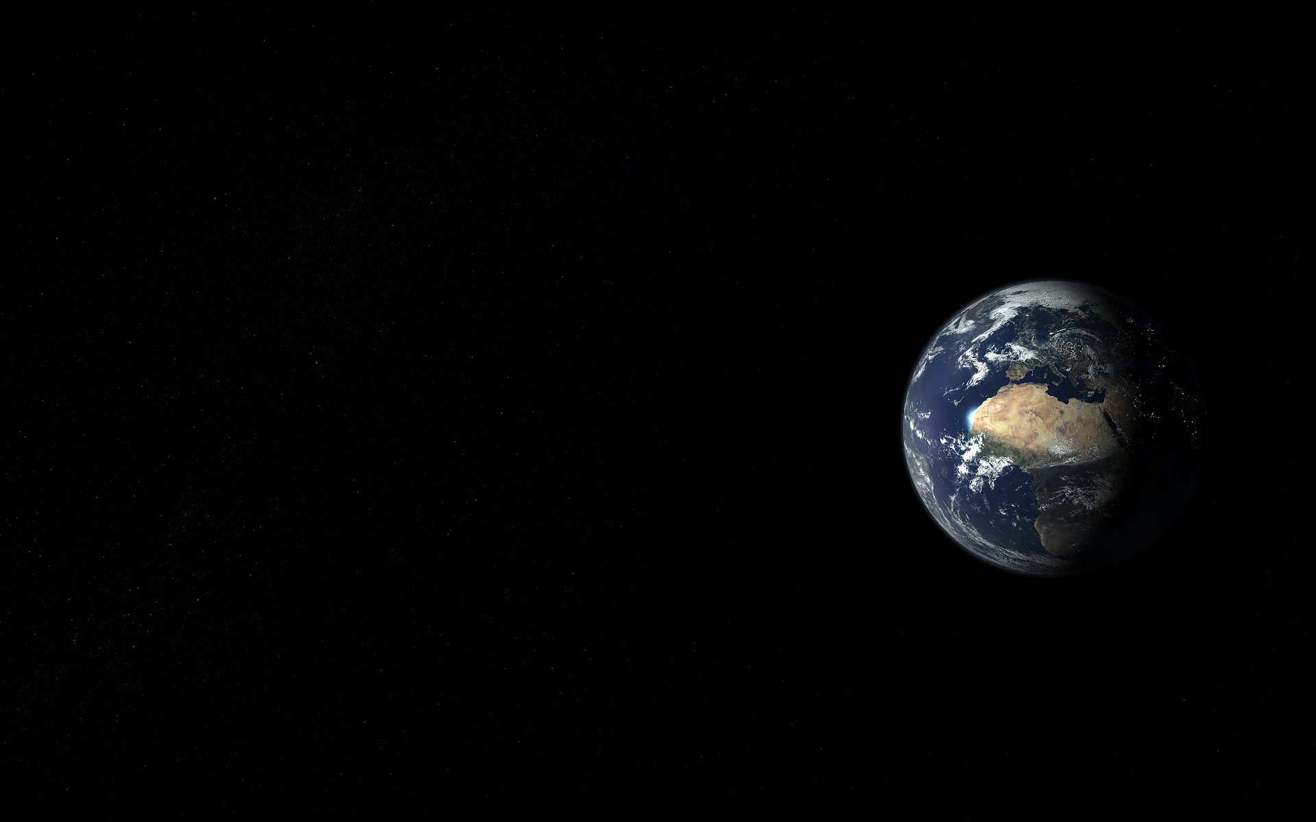 Small Earth View From Space Hd Wallpaper