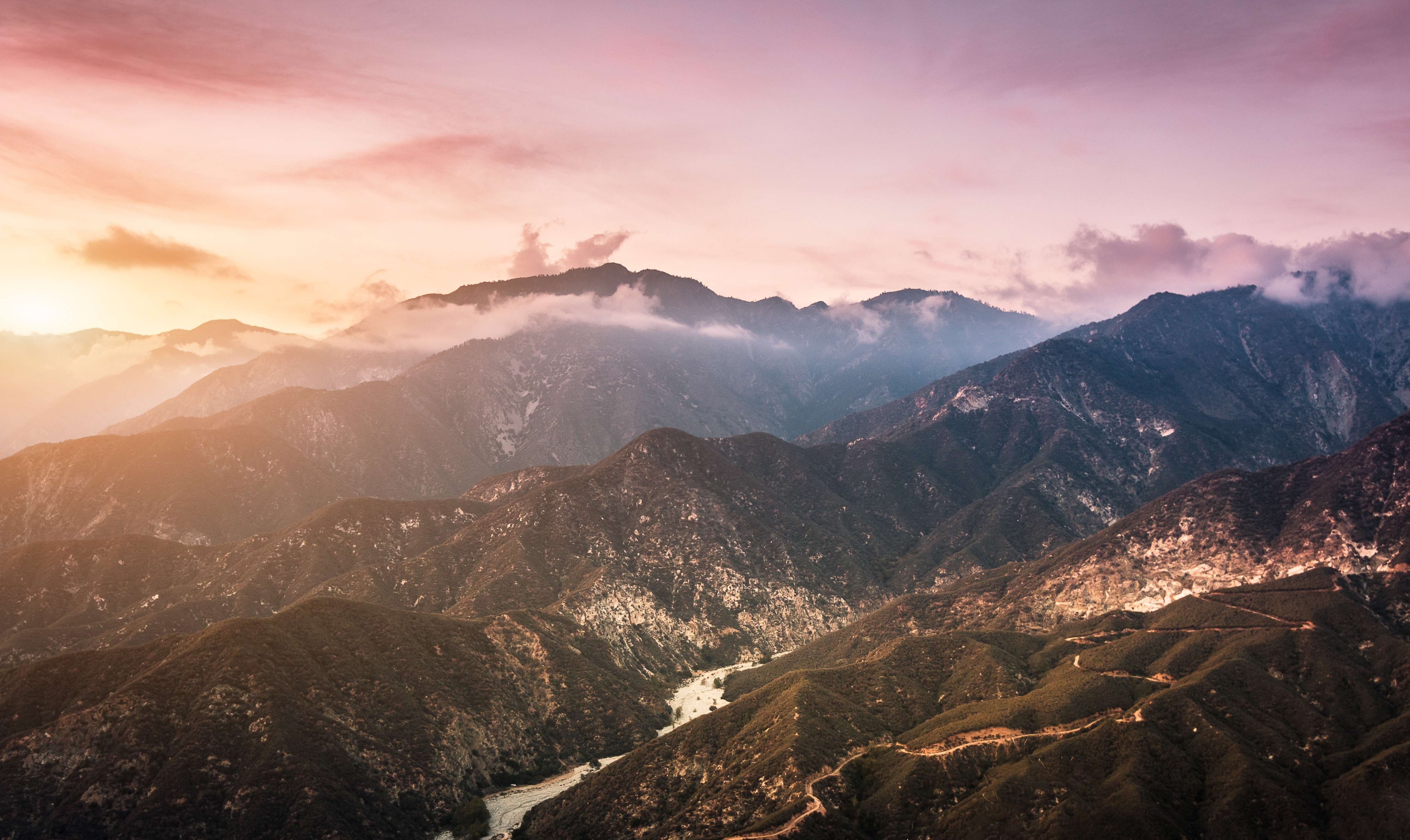 Mountains View From Mountaintop 2272 wallpaper