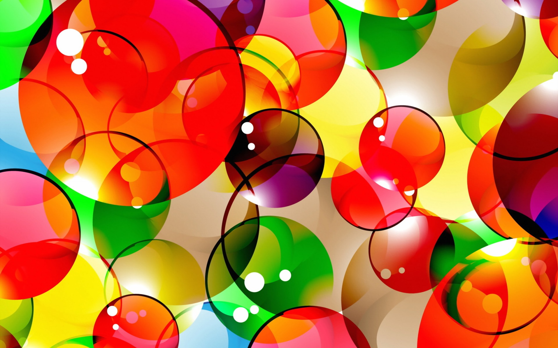 Abstract Multicolored Bubbles wallpaper