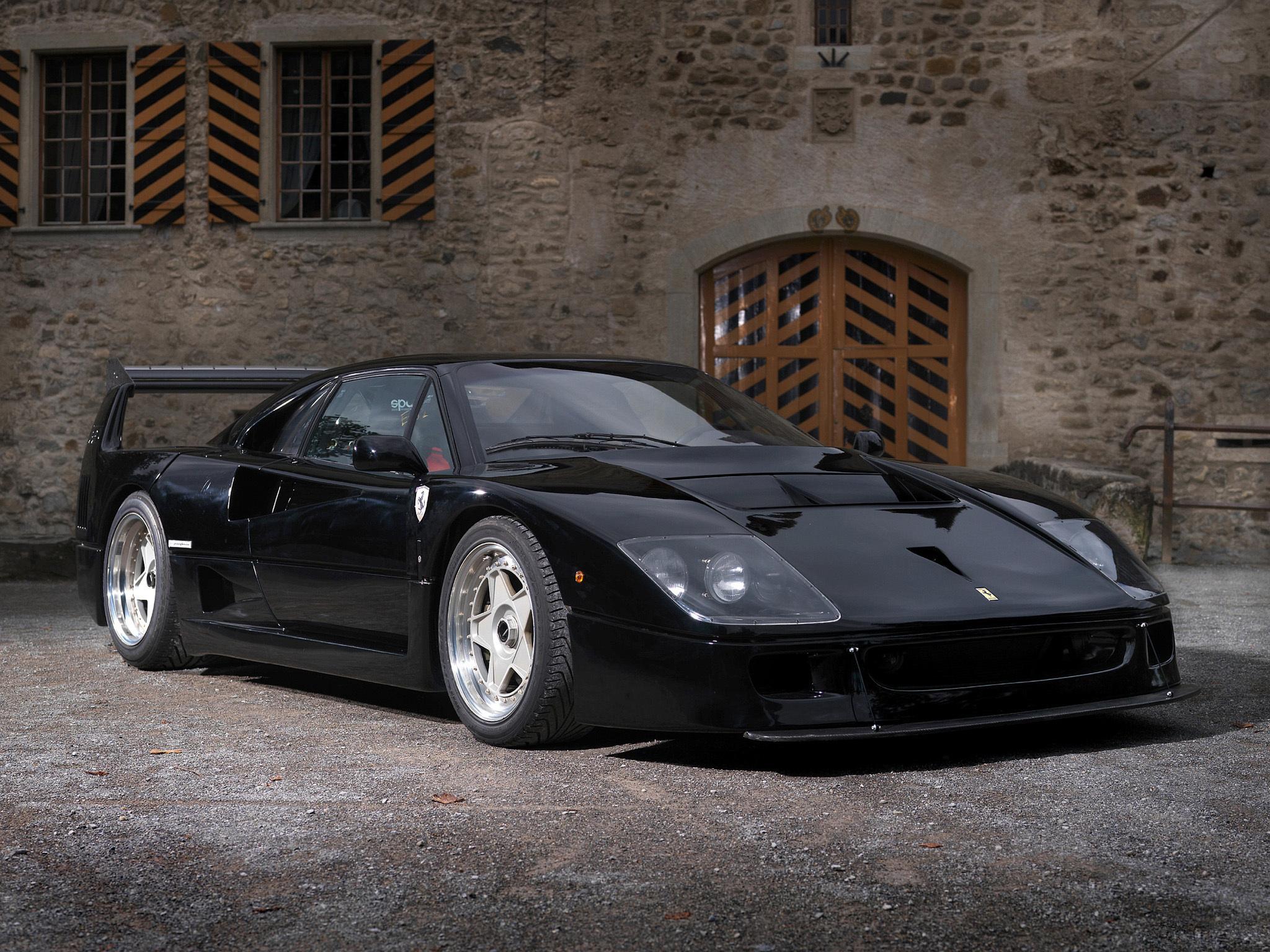 Black Ferrari F50 Hd Wallpaper