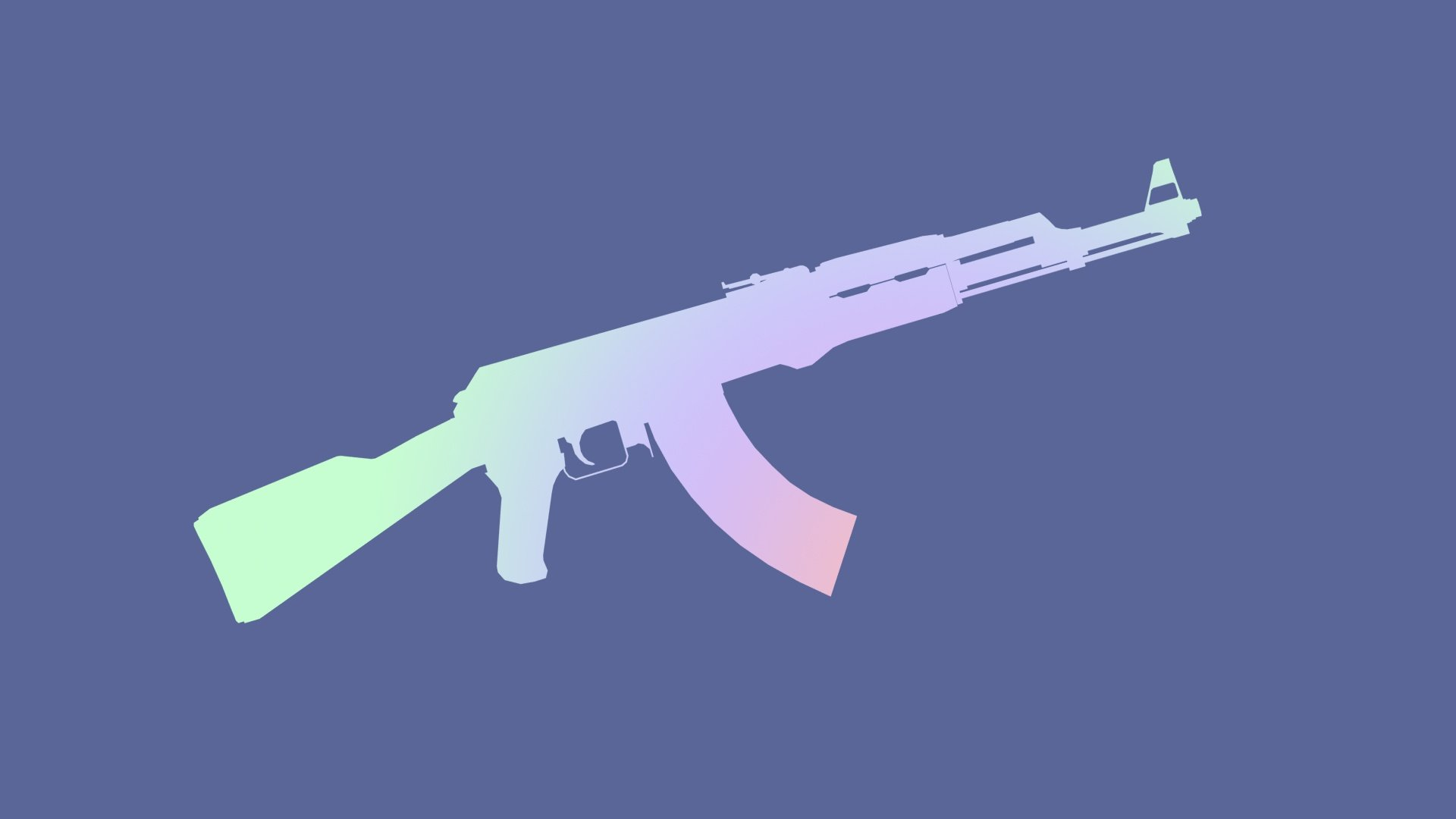 Colour AK 47 Wallpaper