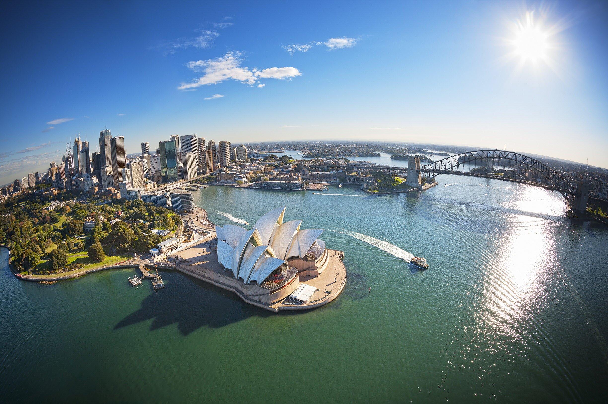 Lyndey Milans Taste of Australia - Sydney Harbour wallpaper