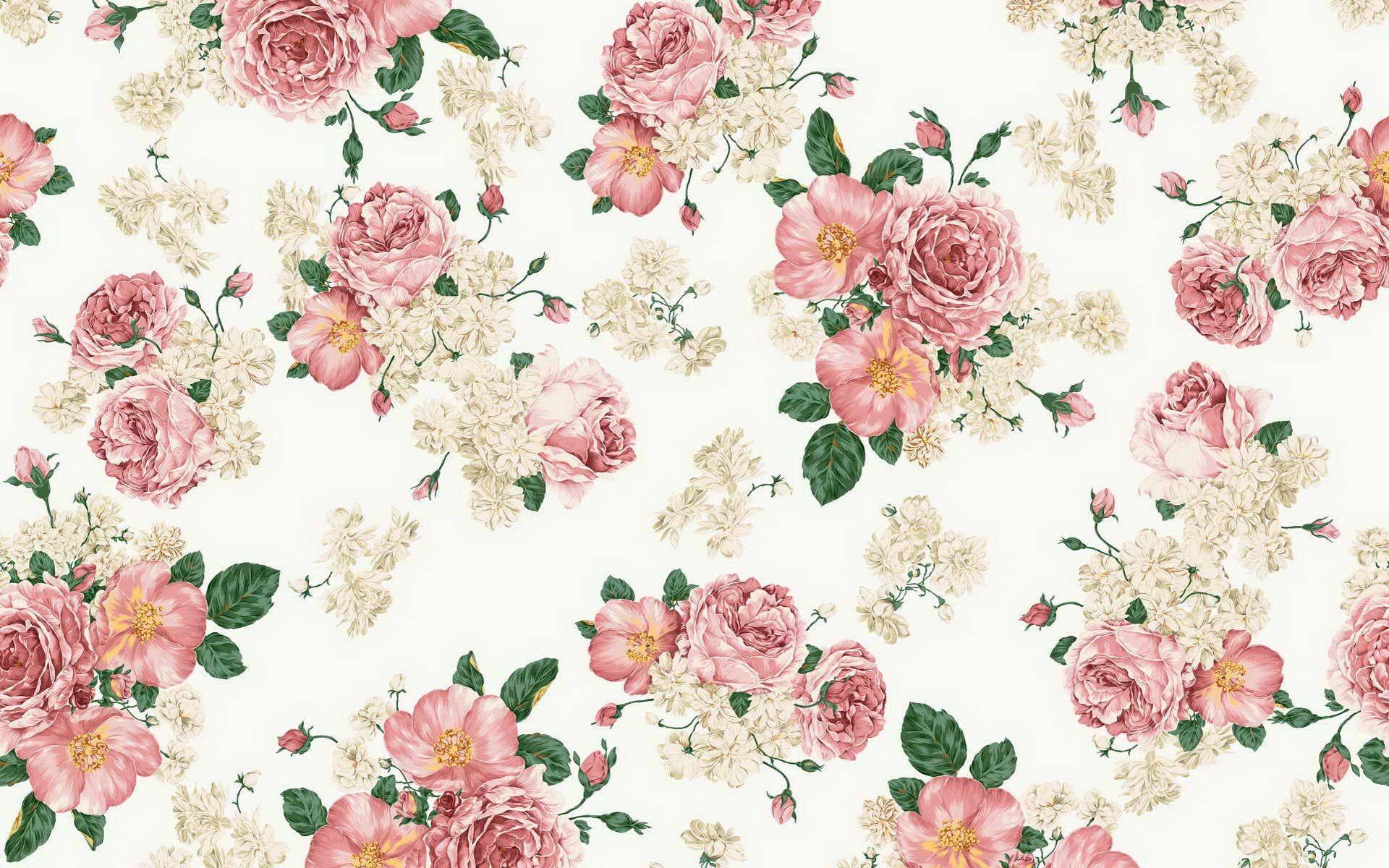 Floral Background Pattern Hd Wallpaper
