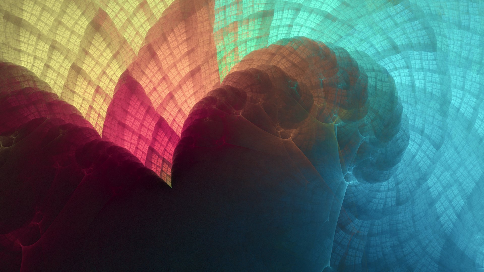 Colourful Fractal wallpaper