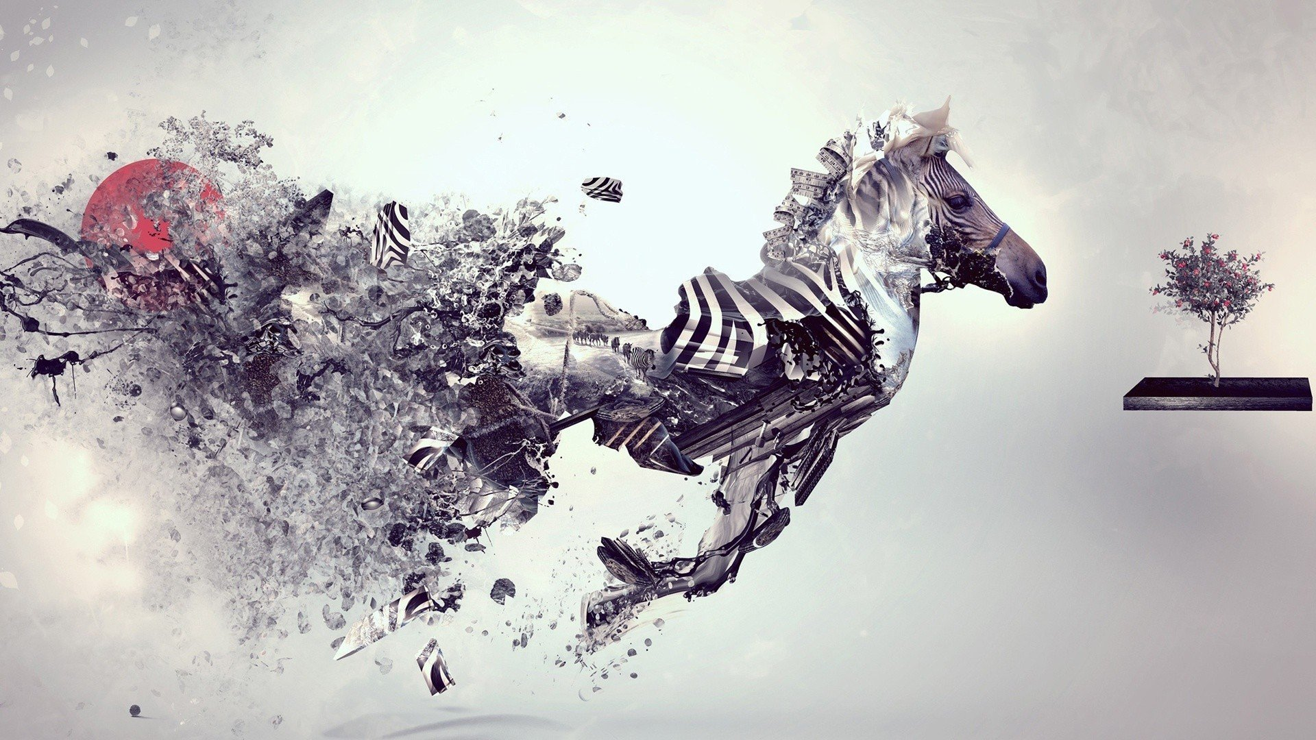 Digital Zebra wallpaper