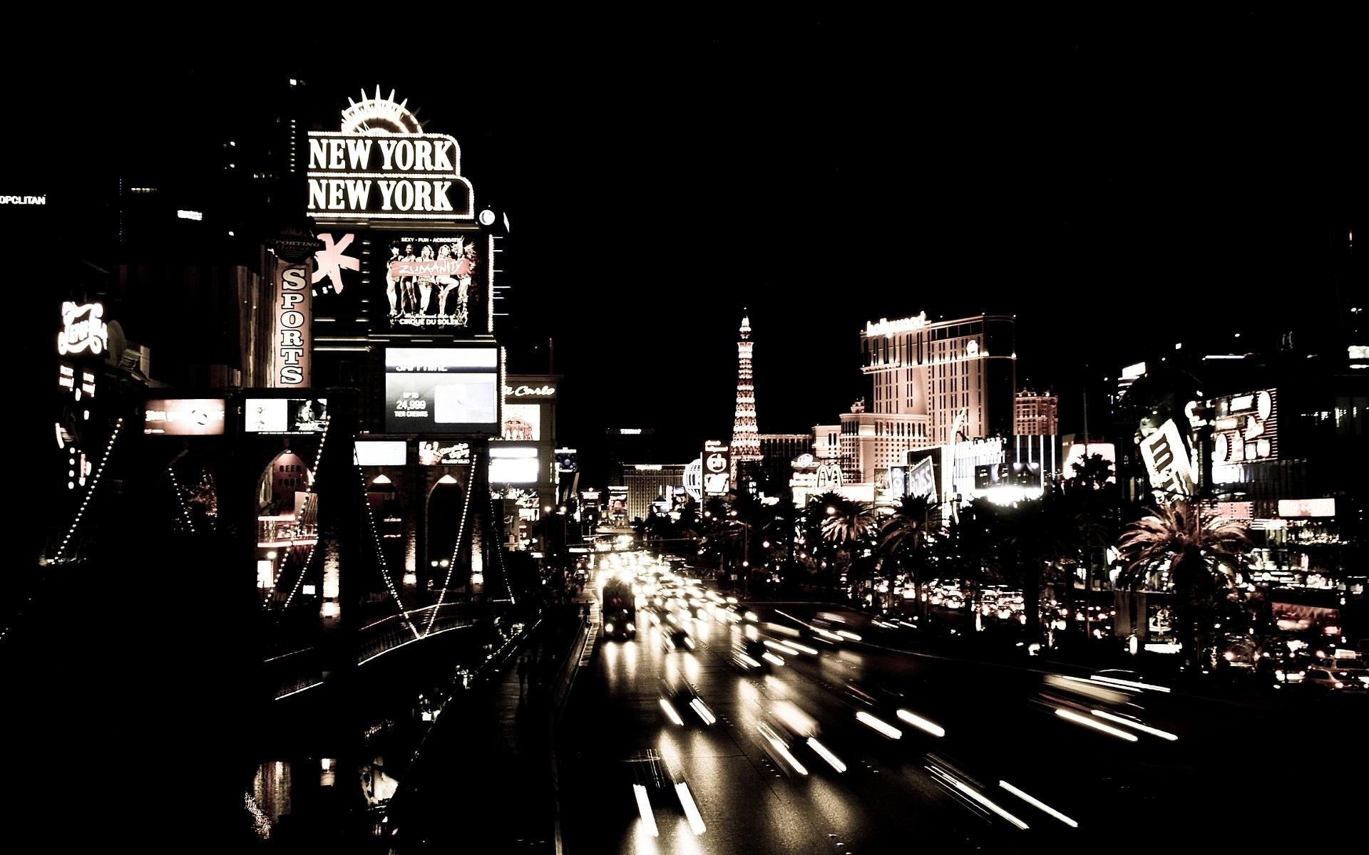 Las Vegas At Night Hd Wallpaper
