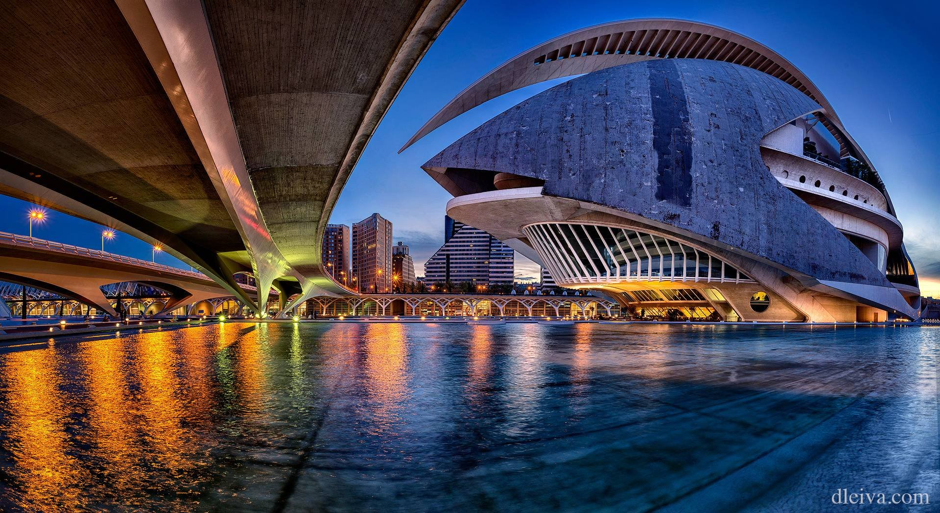 City Of Arts And Sciences, Valencia, Spain HD Wallpaper
