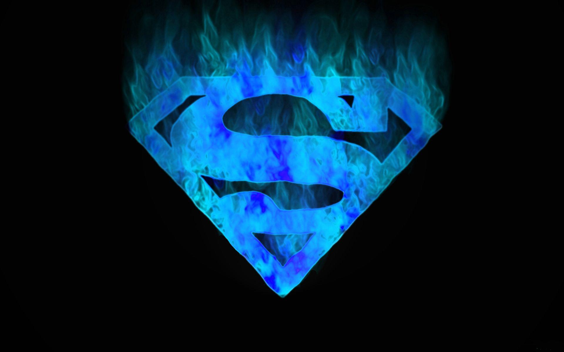 Blue Superman Logo HD wallpaper