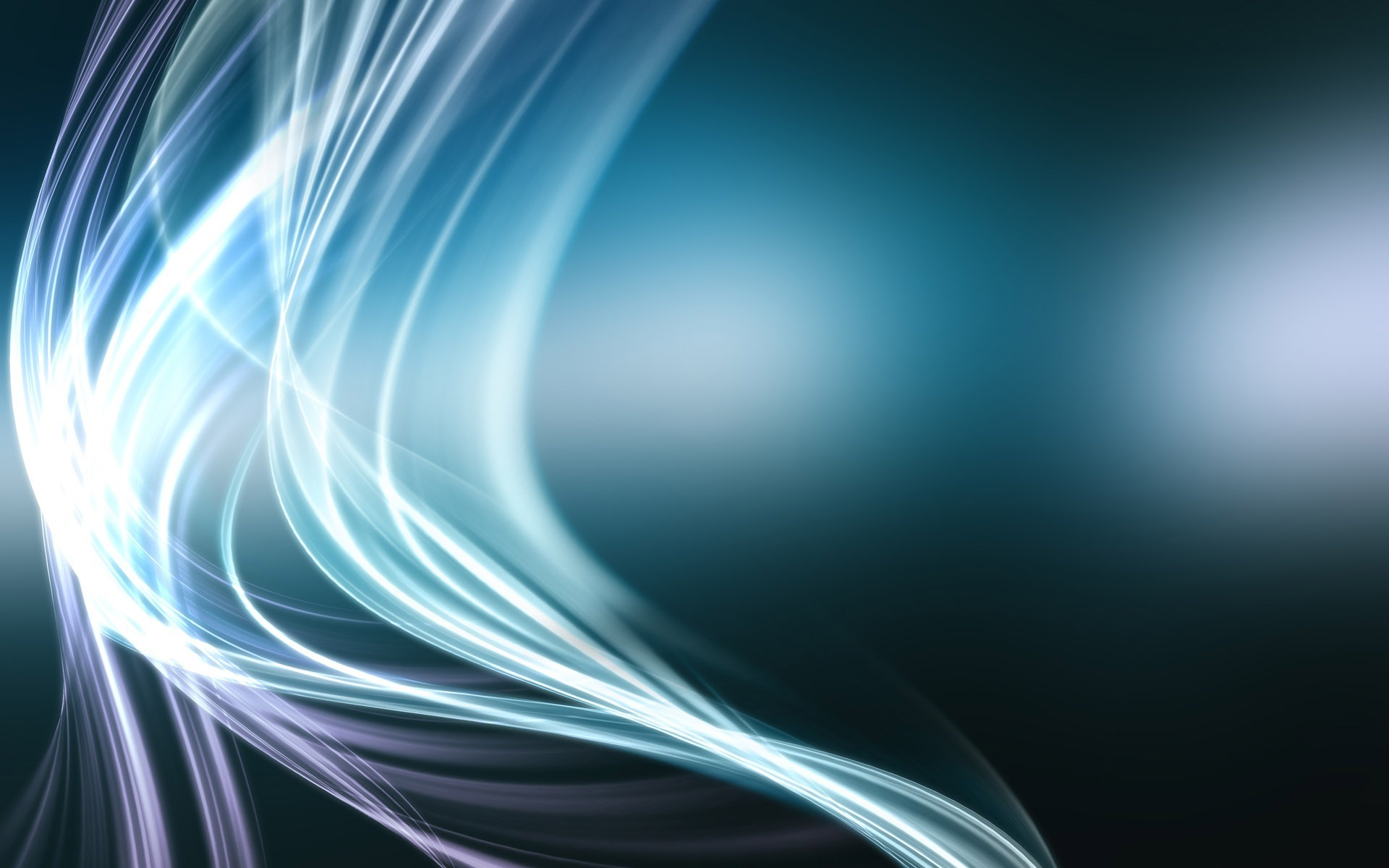Glowing Blue Curves wallpaper