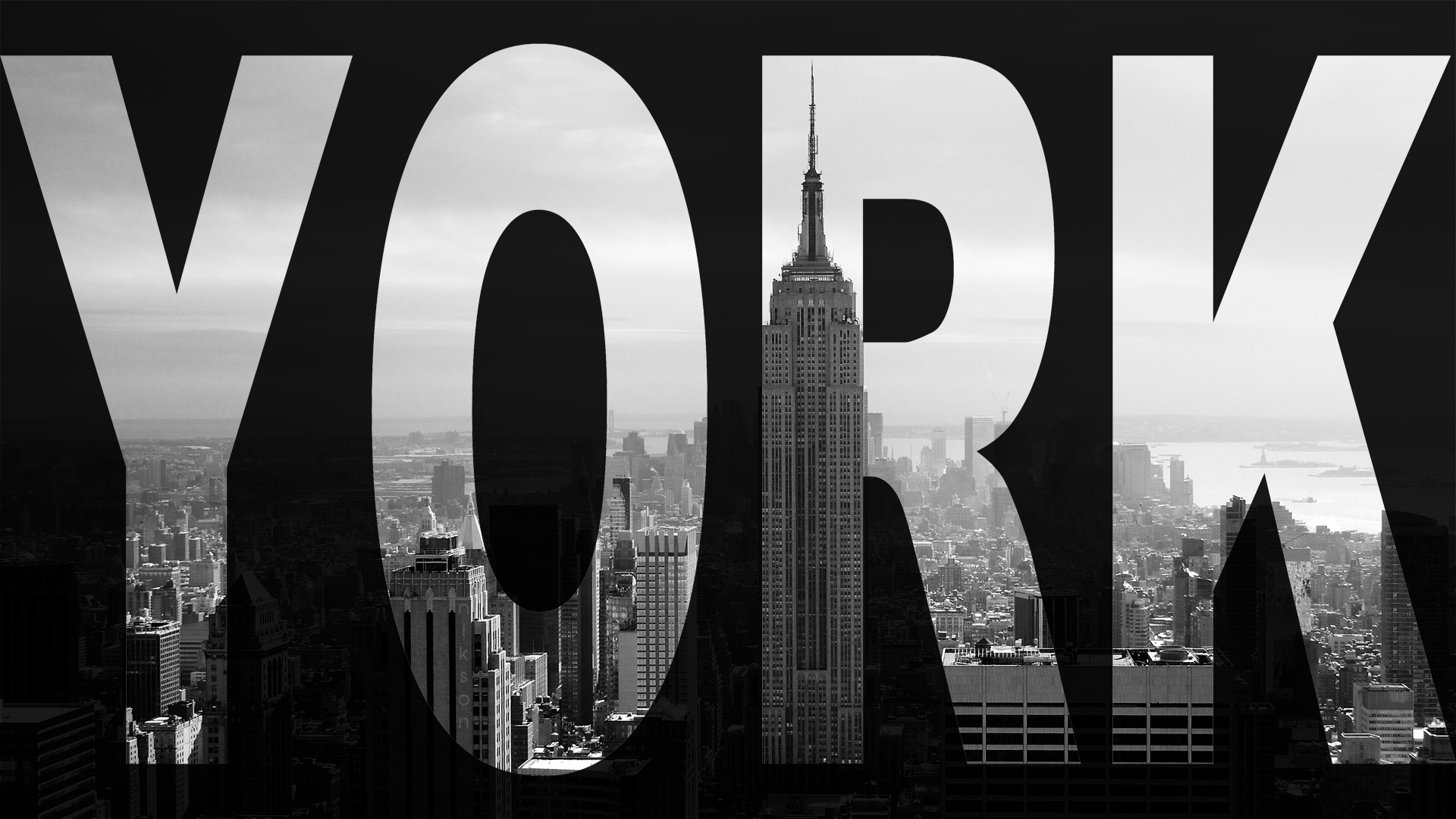 New York Black And White Hd Wallpaper