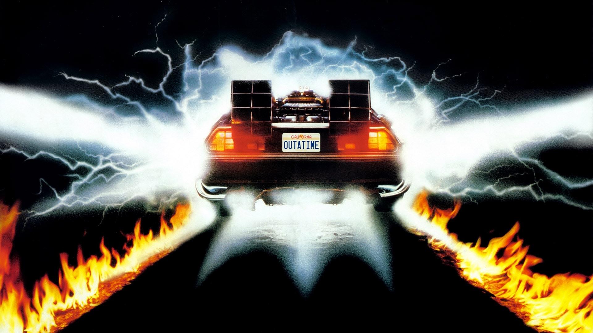 Back To The Future Delorean Flames Hd Wallpaper