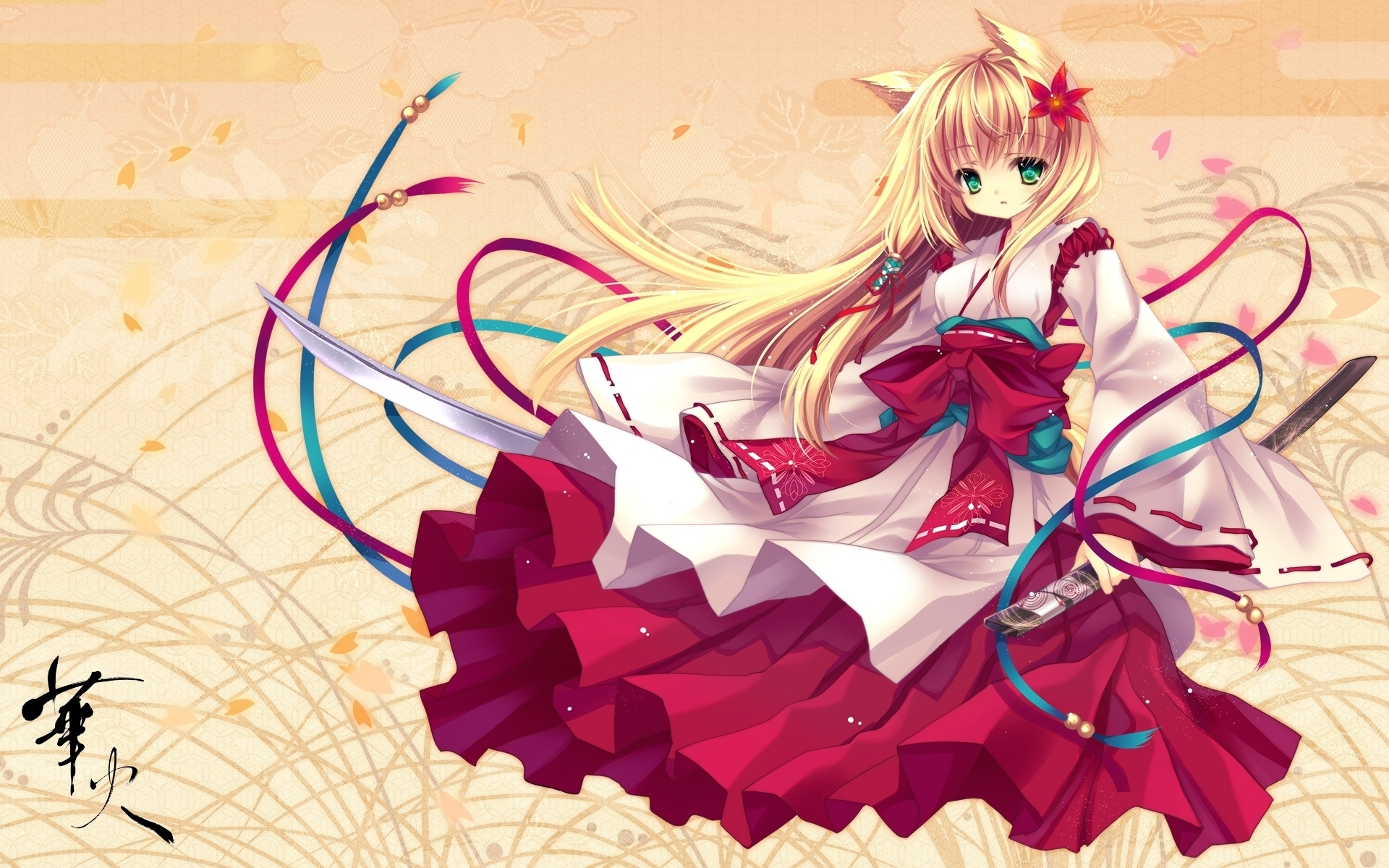 Anime Girl In Kimono wallpaper