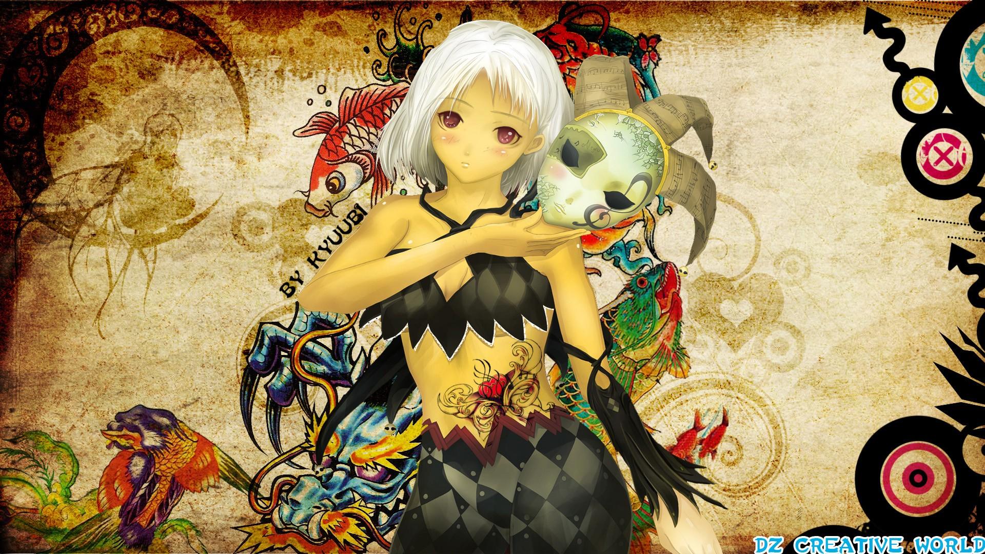 Joker Girl Anime Hd Wallpaper