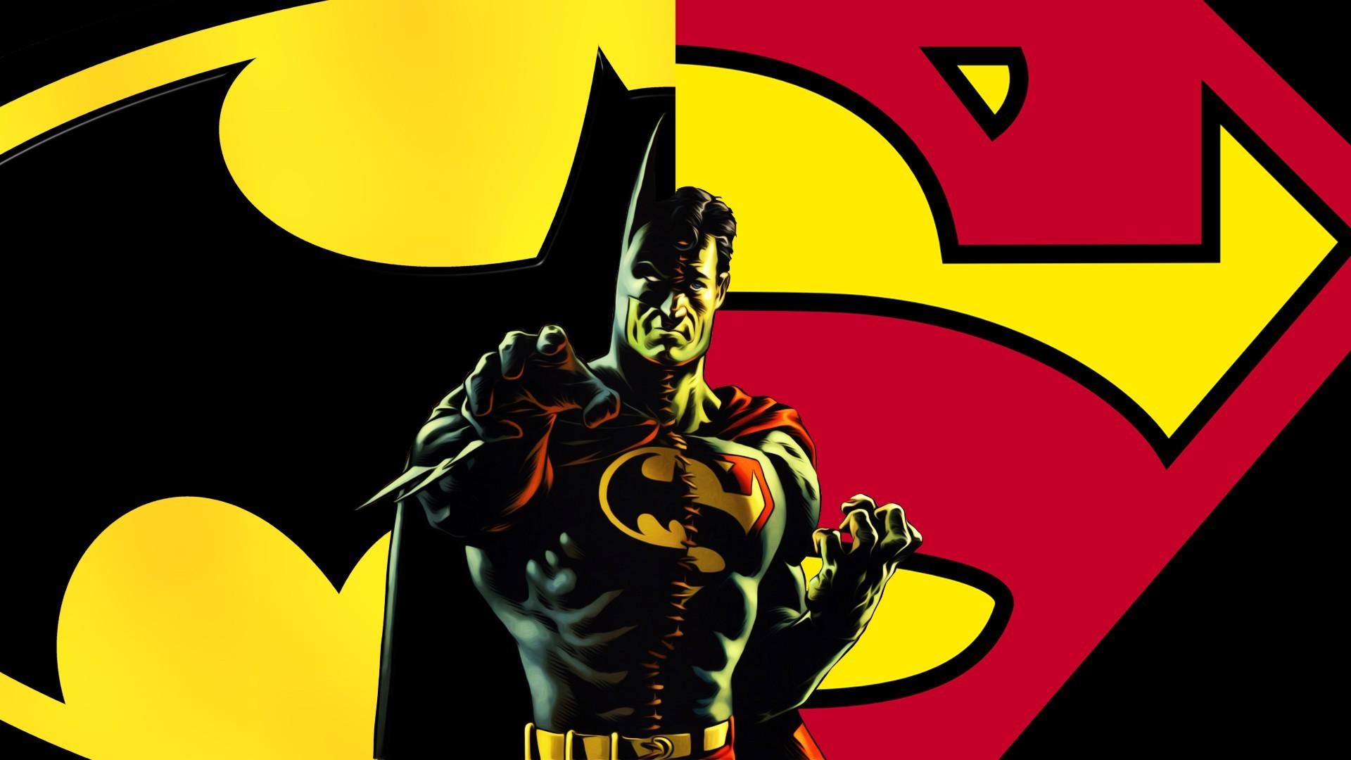 batman superman logo hd wallpaper
