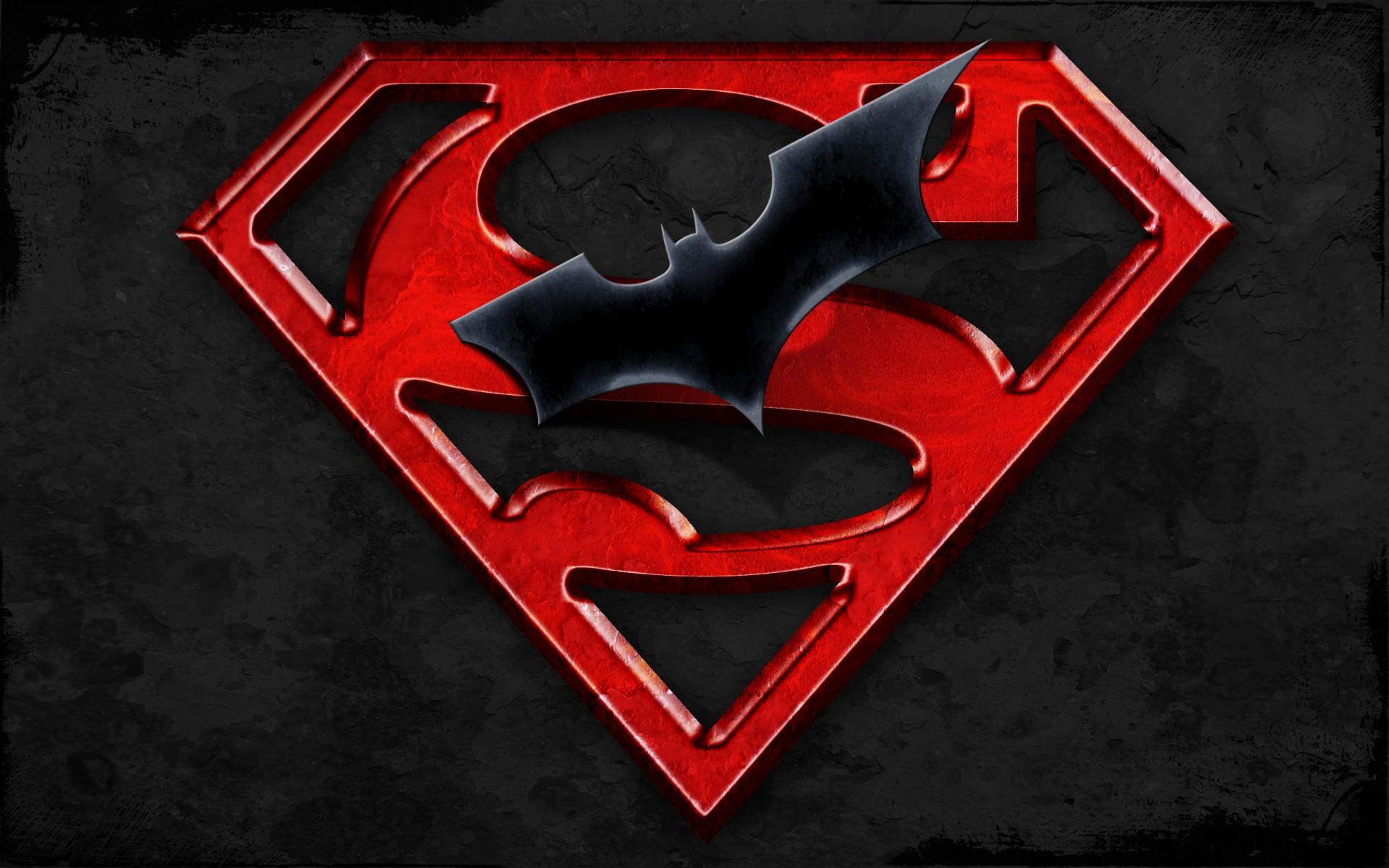 Superman Batman Logo Hd Wallpaper