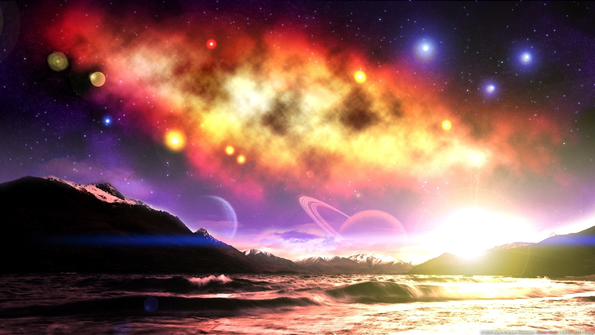 Cool 3D Galaxy HD wallpaper