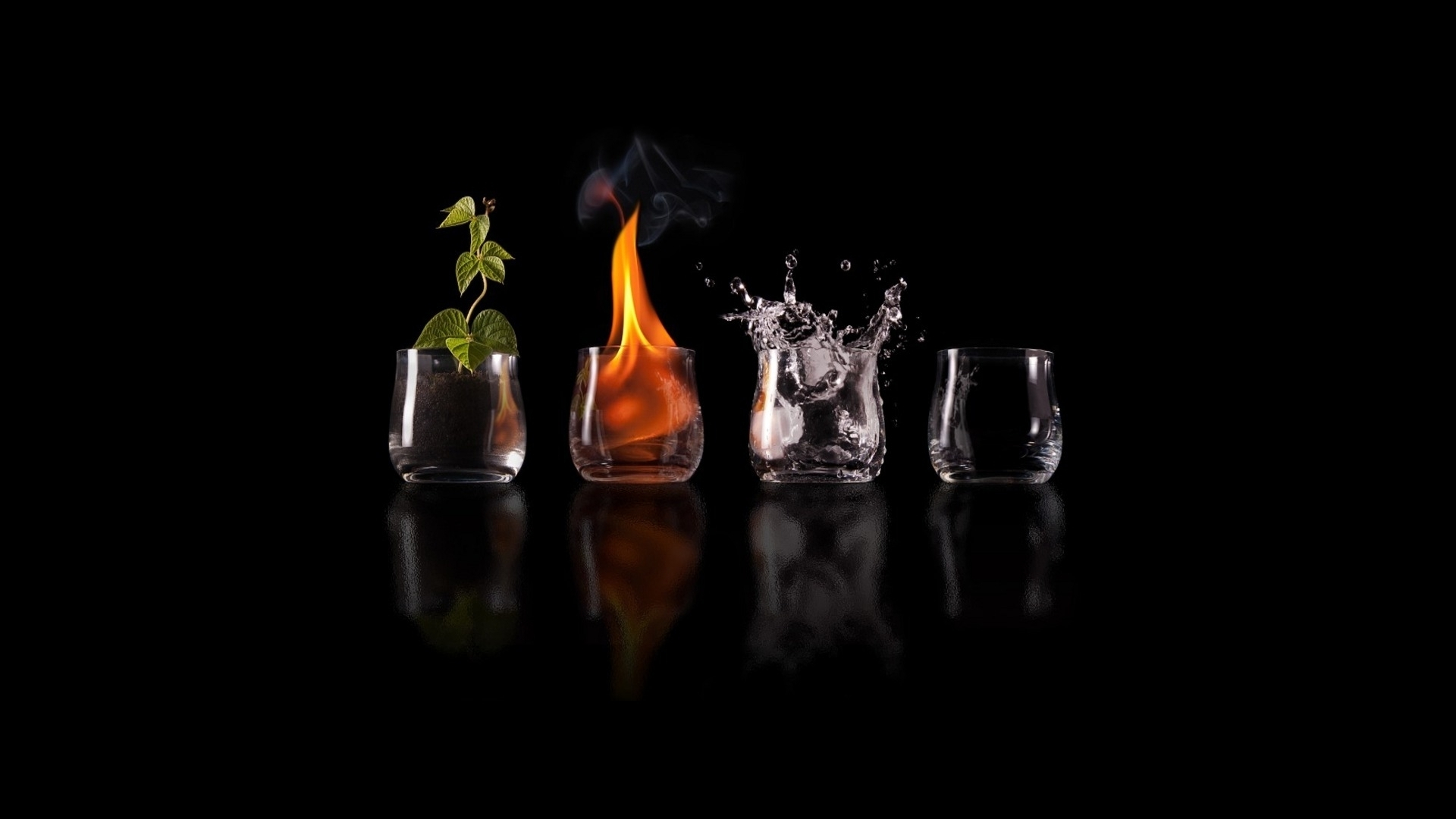 Four Elements Facebook Cover Hd Wallpaper