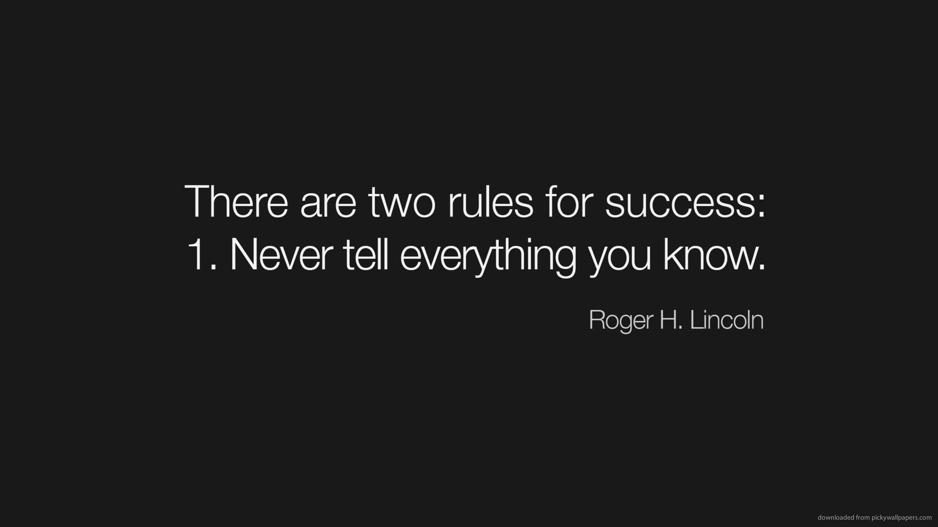 The Two Rules For Success Hd Wallpaper