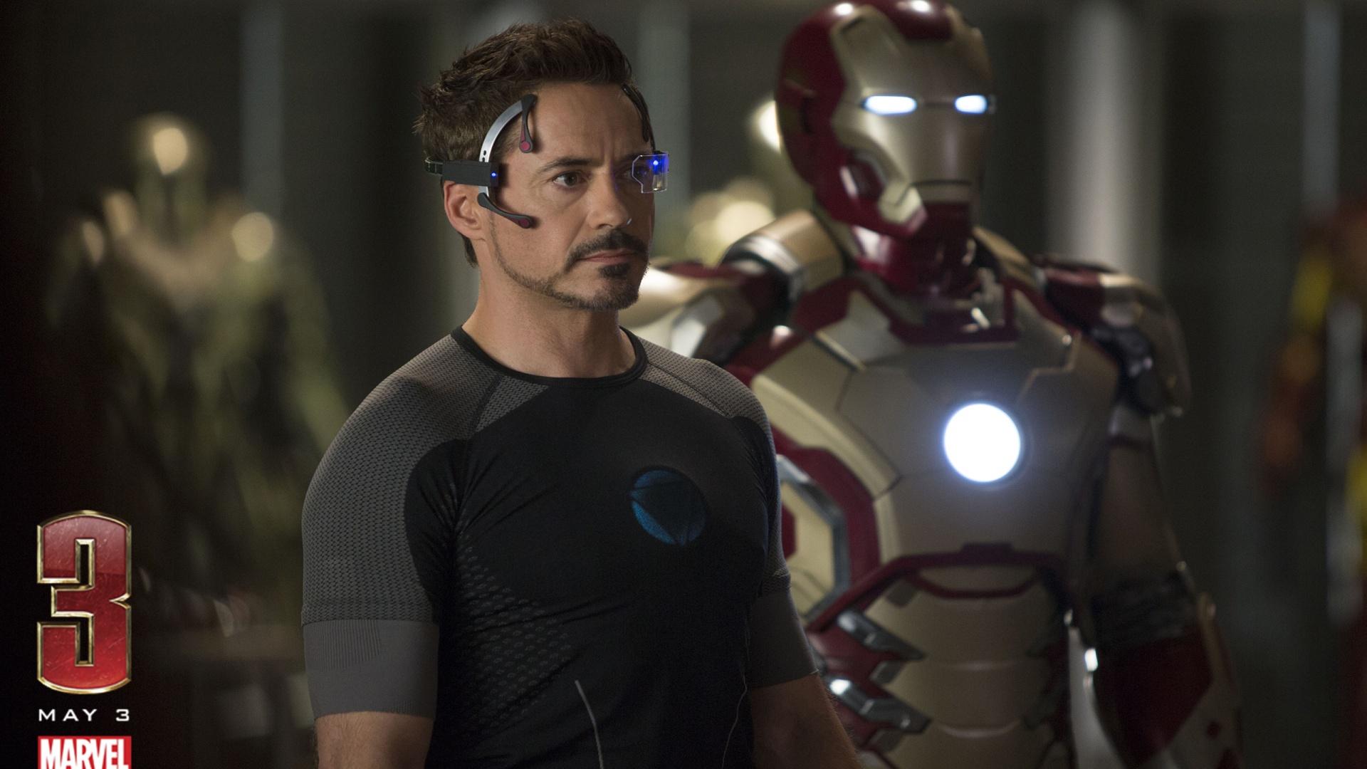 Robert Downey Jr Iron Man 3 Hd Wallpaper