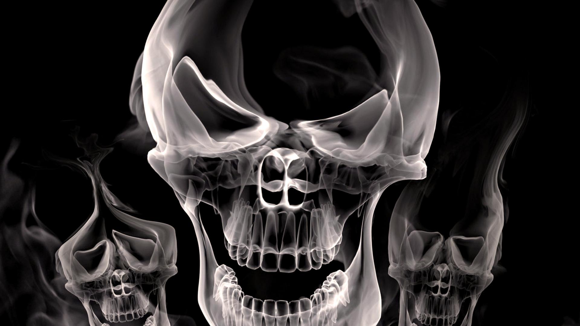 Cool 3d skull smoke hd wallpaper voltagebd Choice Image