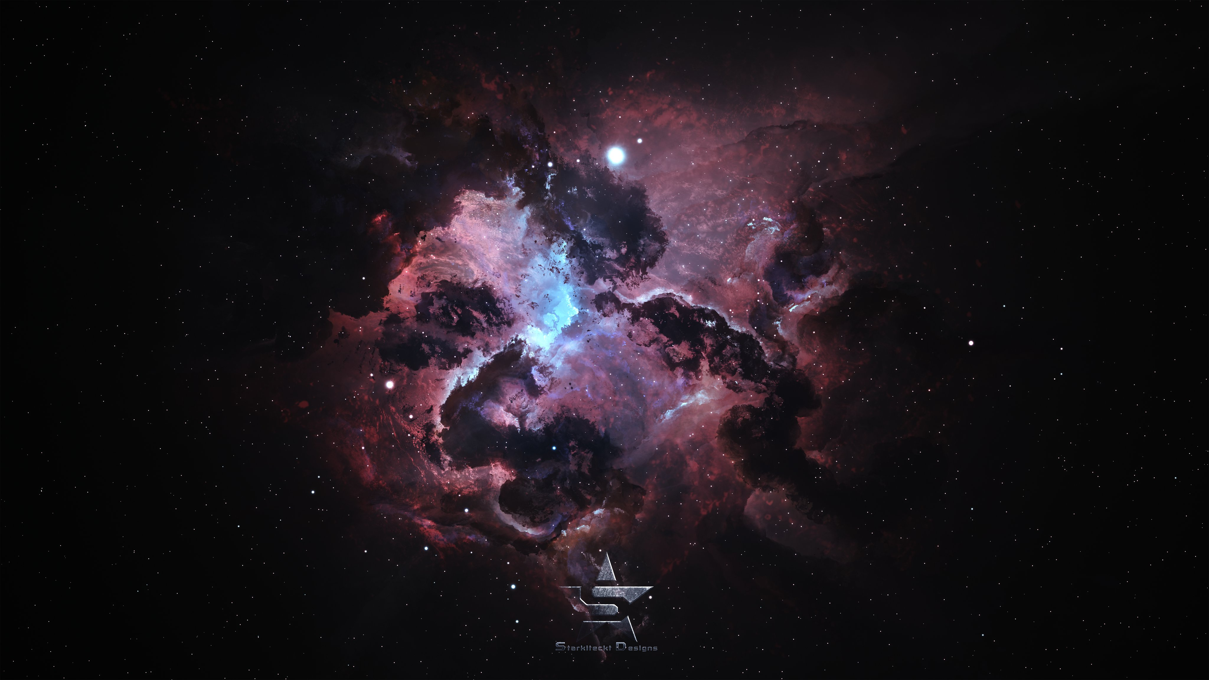Starkiteckt atlantis nexus nebula 4k resolution 4k wallpaper - 4k resolution space wallpaper ...