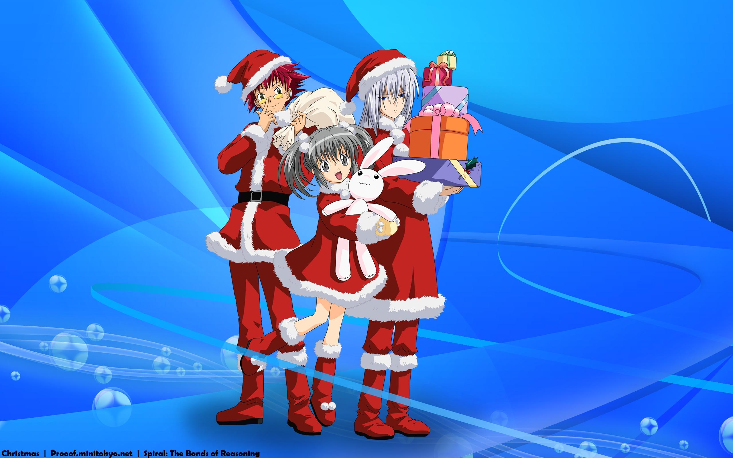 Anime Christmas Wallpaper.Anime Merry Christmas Hd Wallpaper