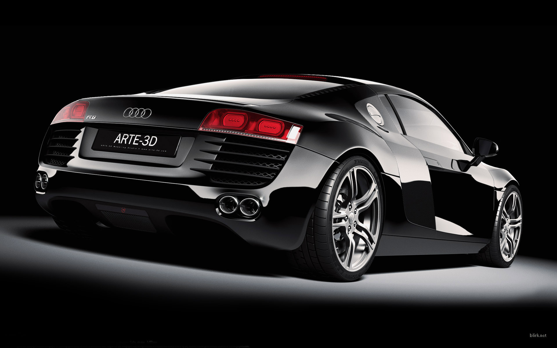 Audi R8 Black Hd Wallpaper