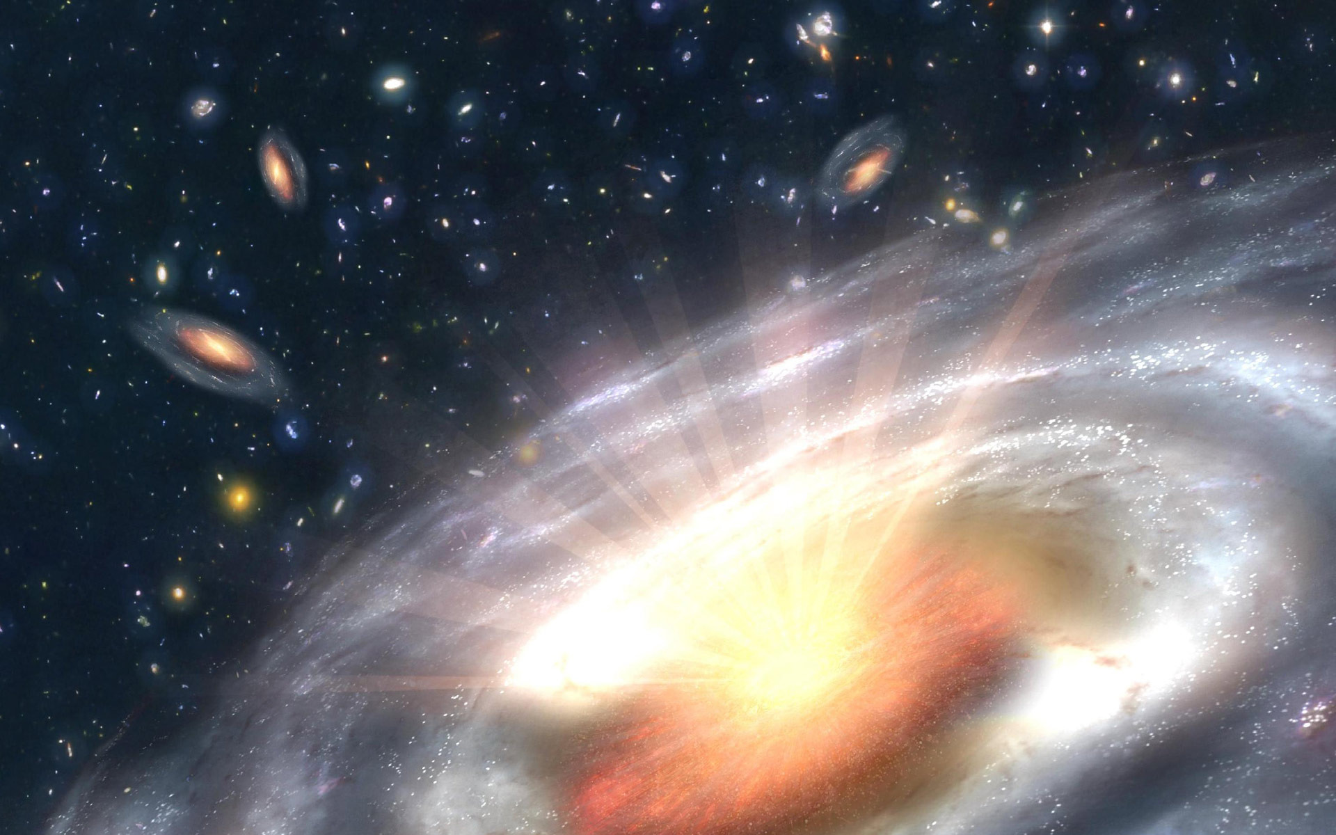 galaxies sucked in the black hole