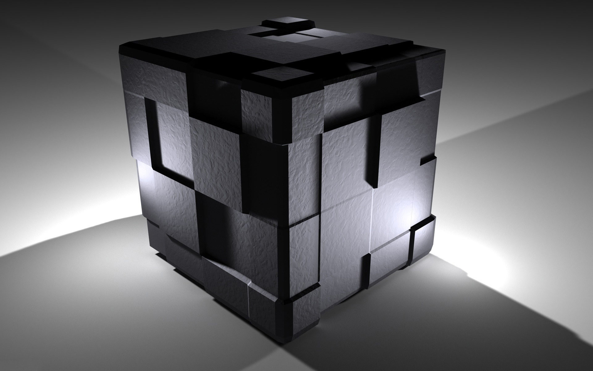 Glowing Black Cube wallpaper