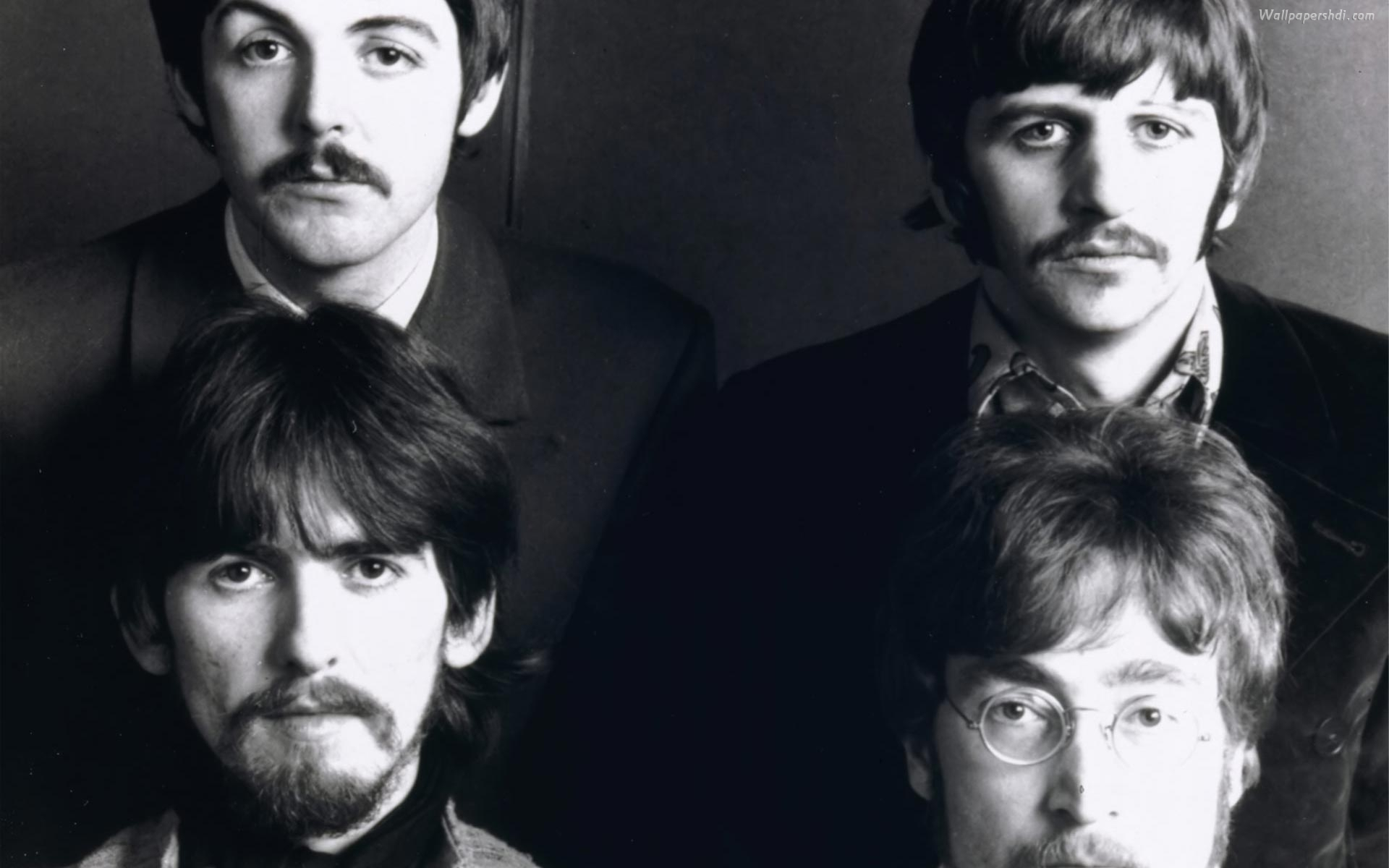 The Beatles Black And White 4246 Wallpaper