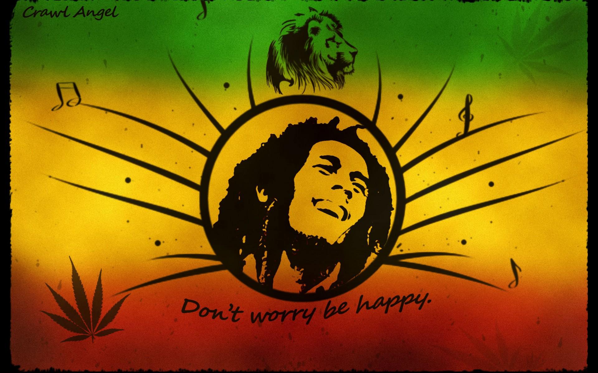 Bob Marley Don T Worry Be Happy HD wallpaper