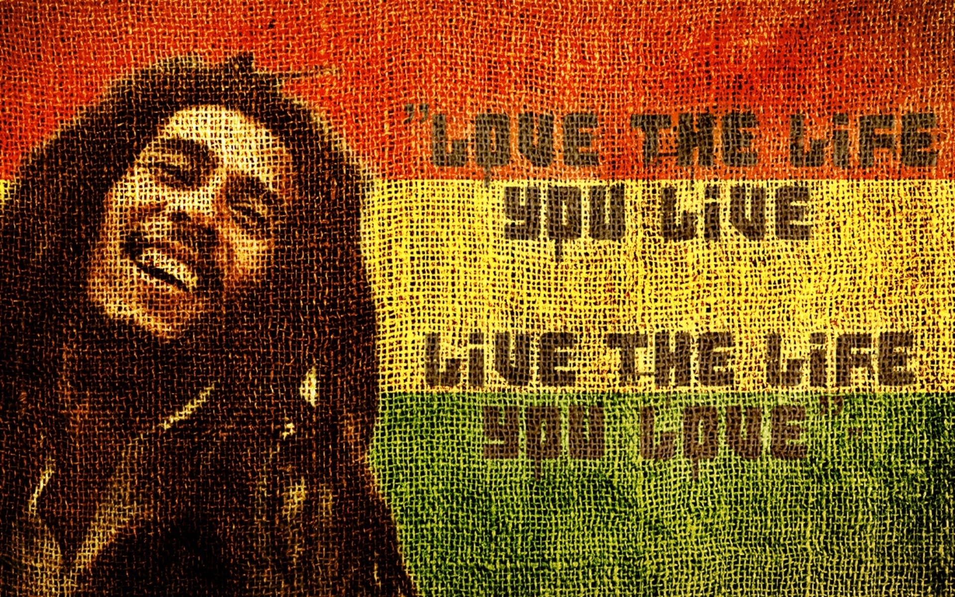 Bob Marley Love The Life You Live 7354 Hd Wallpaper