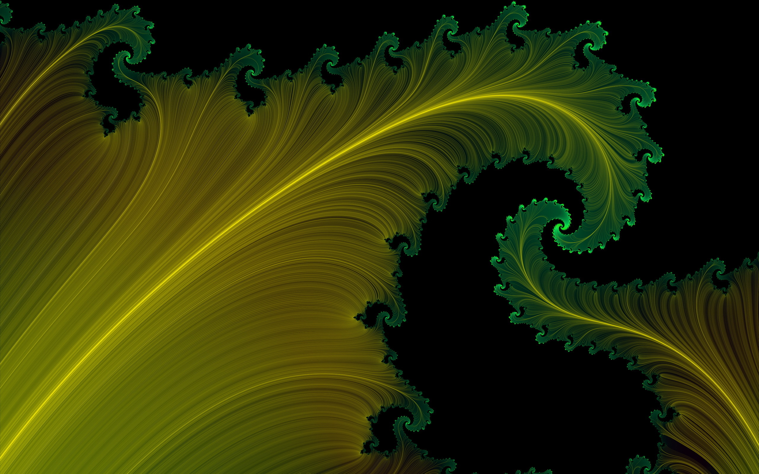 Yellow Green Black Background Hd Wallpaper