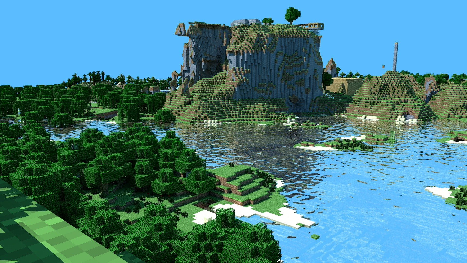 hd s minecraft wallpaper