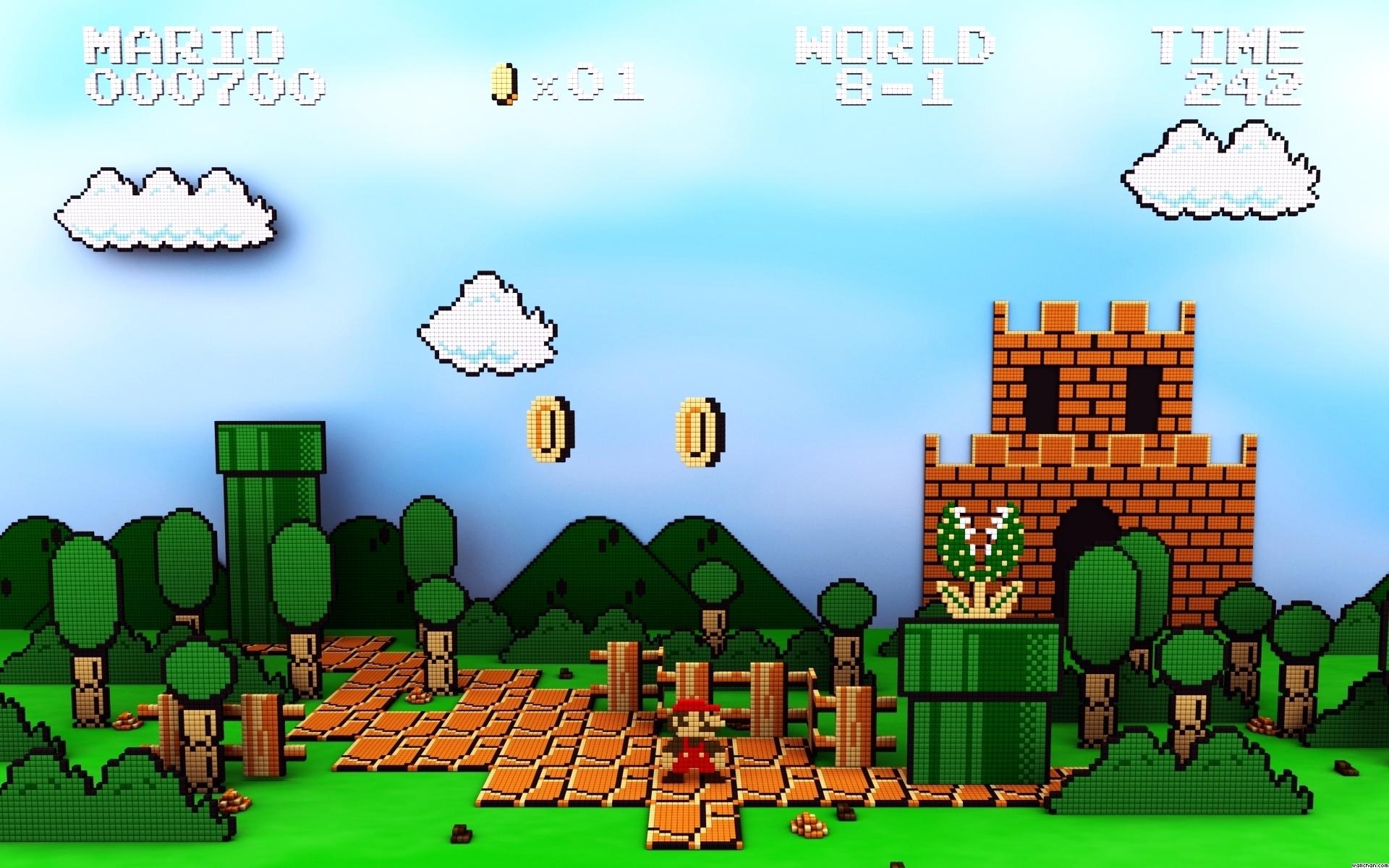 Super Mario Bros Hd Wallpaper