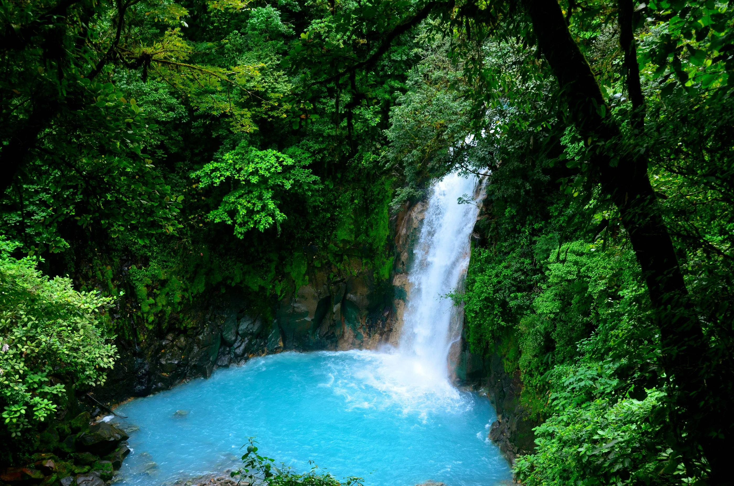 Rio Celeste Waterfall Costa Rica HD Wallpaper