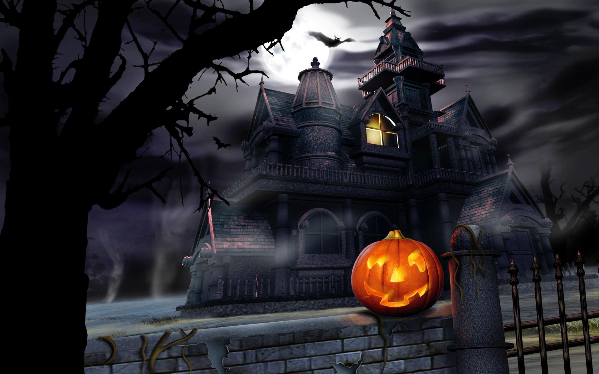 free halloween animated desktop backgrounds hd wallpaper