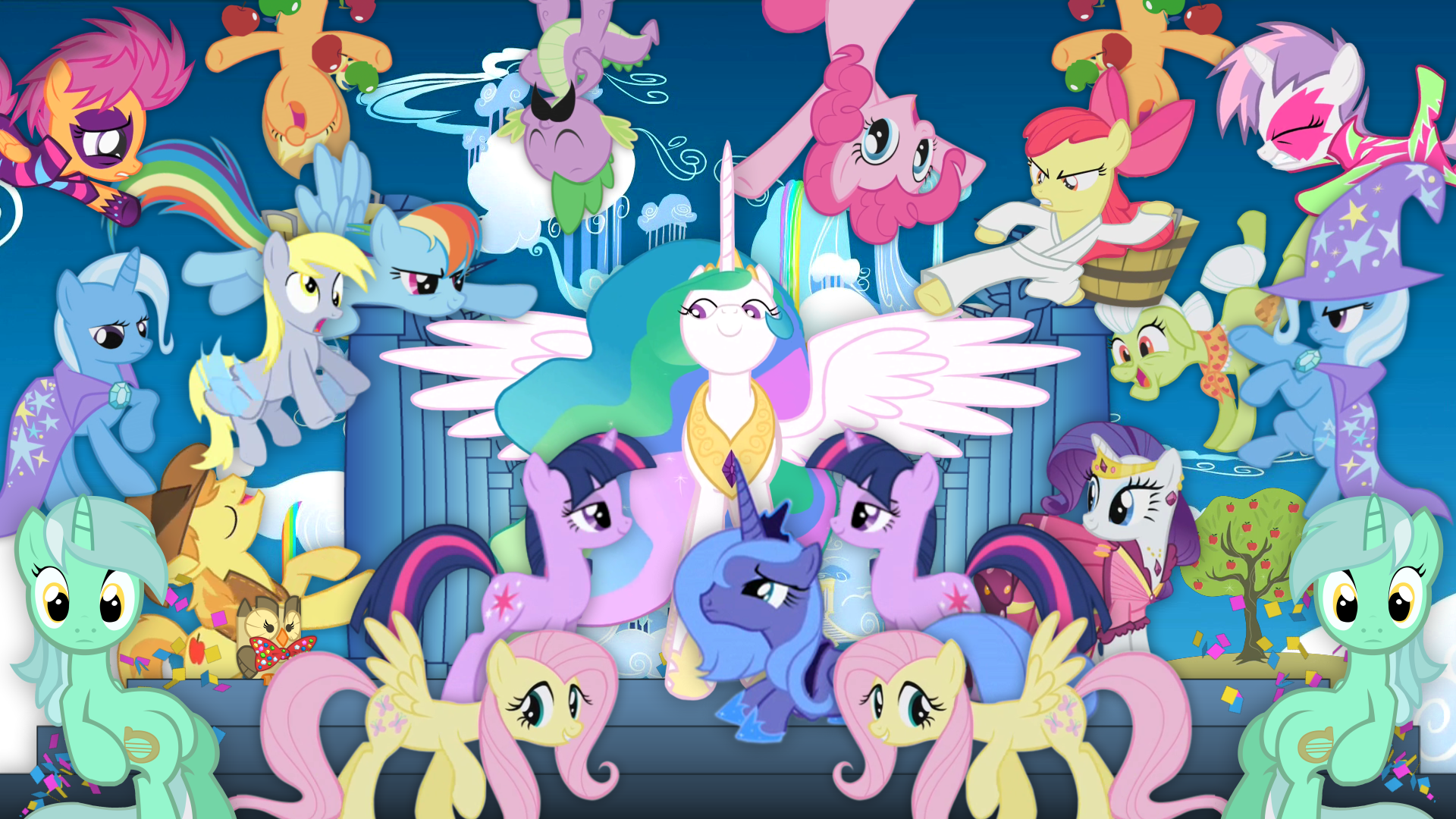 My Little Pony Friendship Is Magic All Ponies Hd Wallpaper