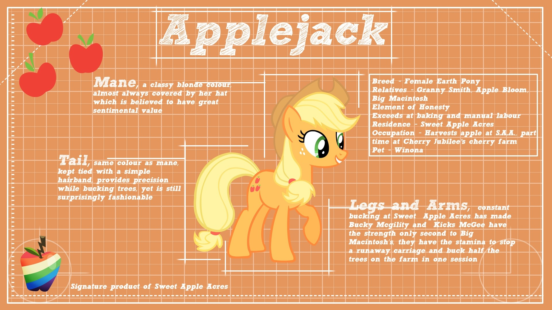my little pony friendship is magic applejack 9094 hd wallpaper