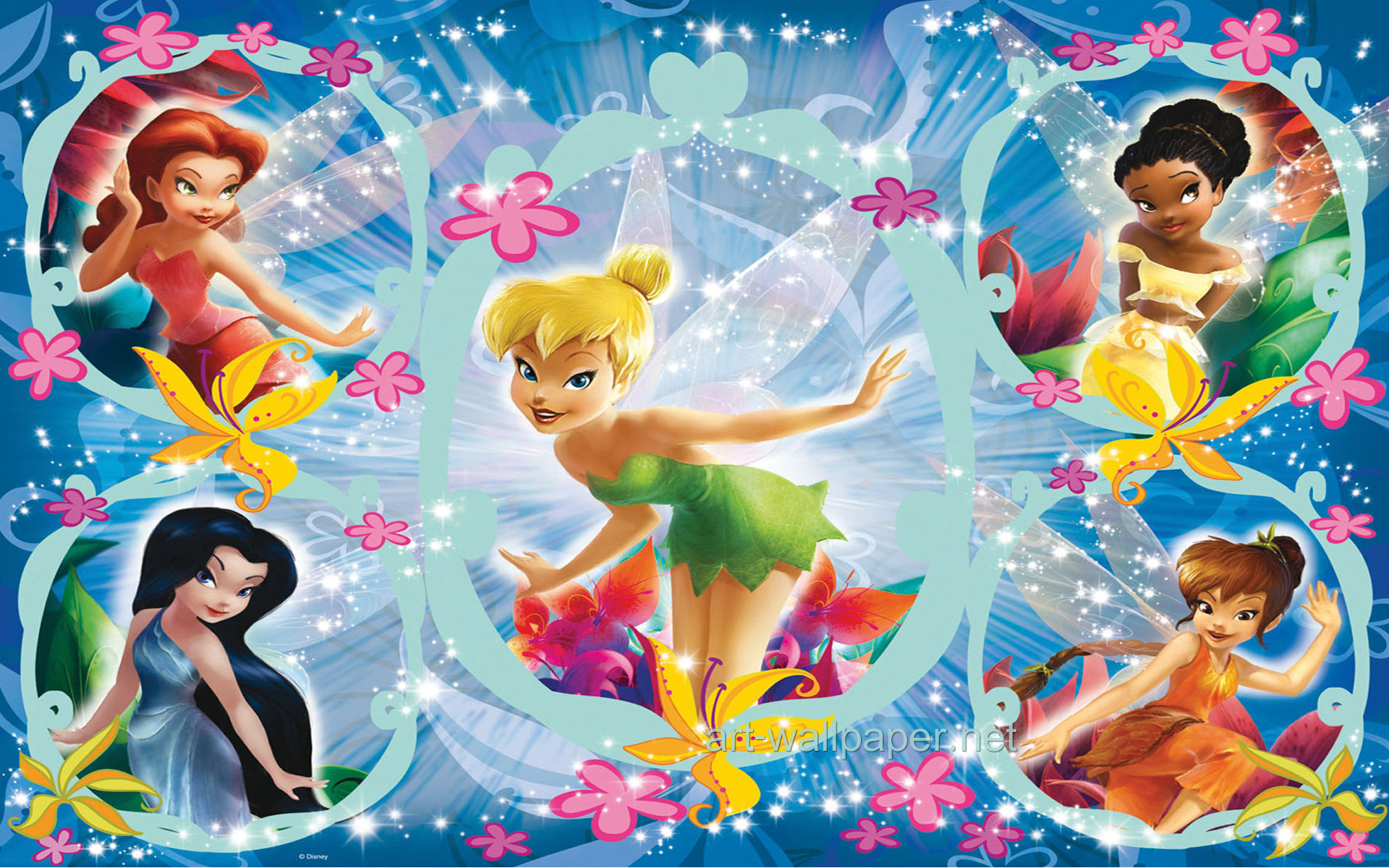 Tinkerbell And Friends HD Wallpaper