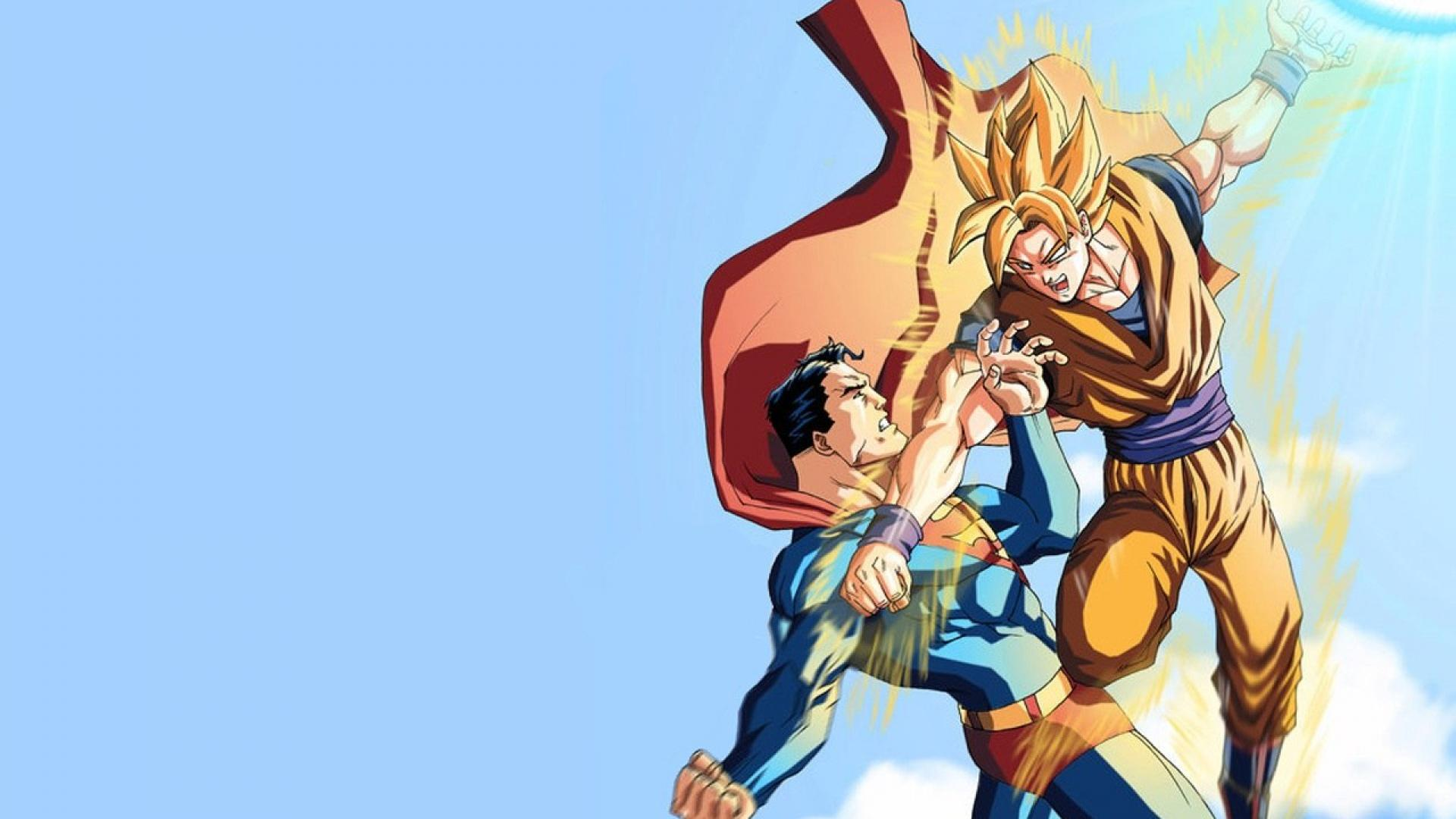 Goku Vs Superman HD wallpaper